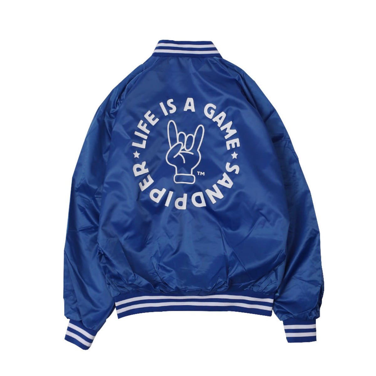LIFE IS A GAME BASEBALL JACKET (Blue CARDINAL ACTIVE WEAR)