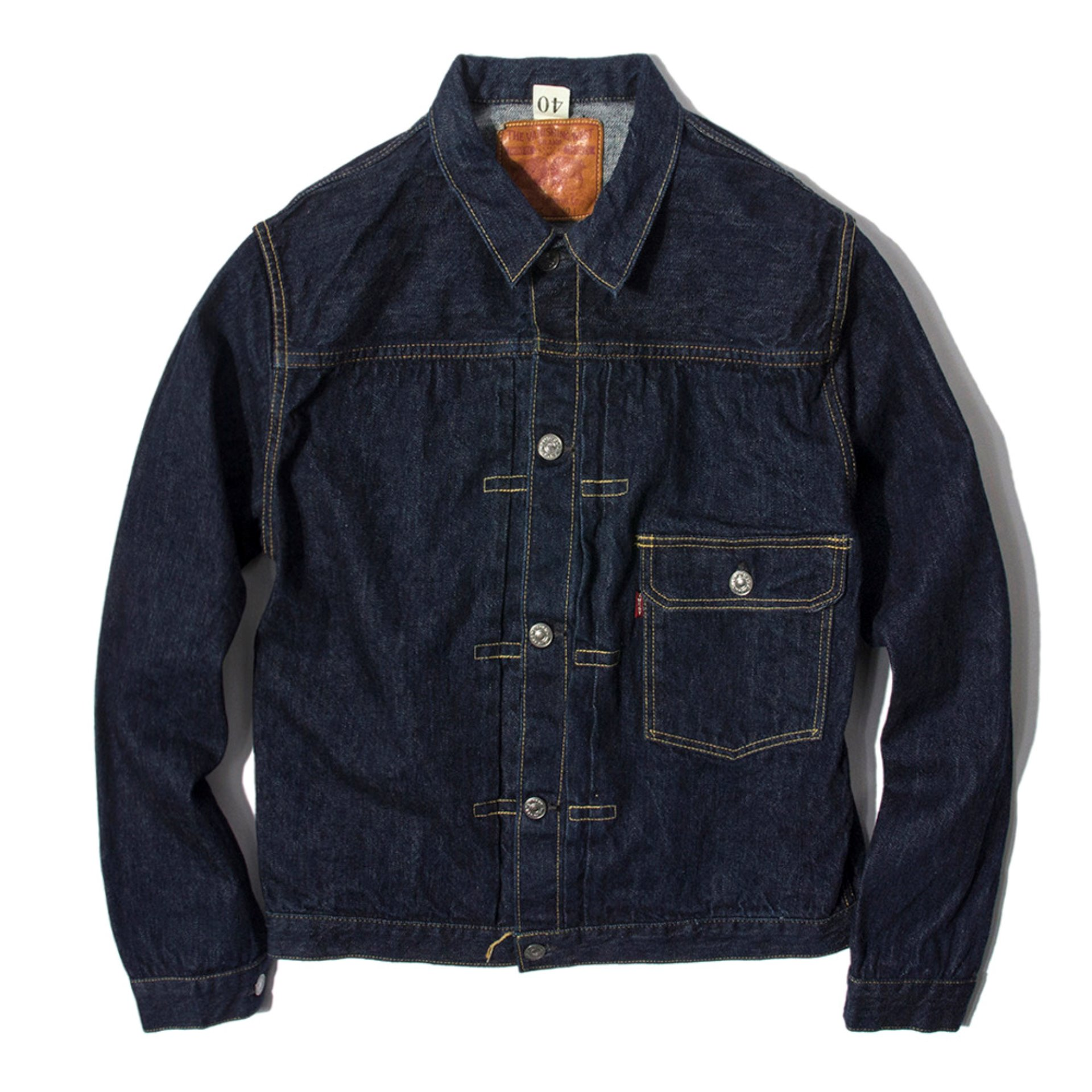 "[VANISHIING WEST]DENIM JACKET""1ST""(DENIM INDIGO)"