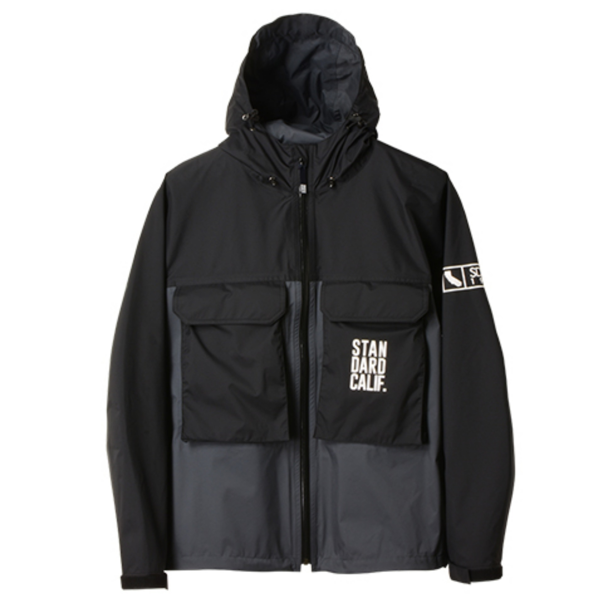 SD 2.5-Layer Stretch Fishing Hood Jacket(BLACK x GREY)