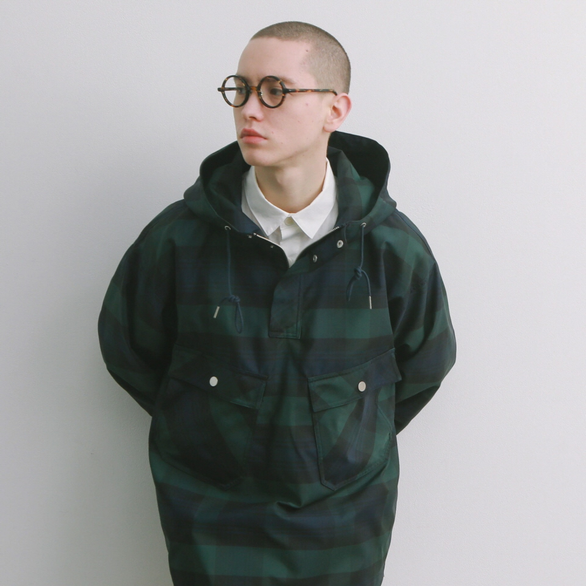 HOTEL SECURITY OVERSIZED 4P ANORAK JACKET (B.WATCH CHECK)