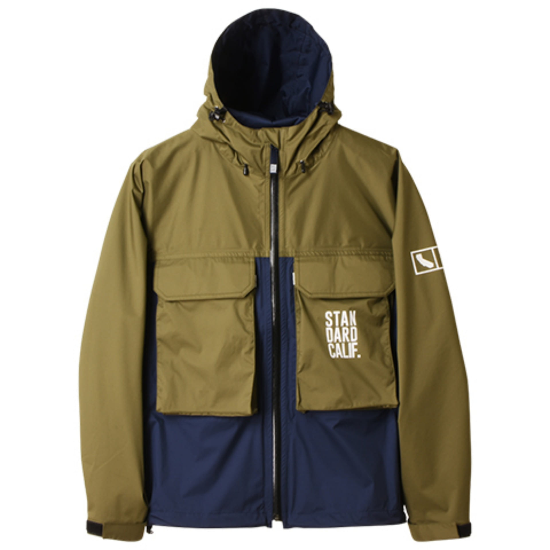SD 2.5-Layer Stretch Fishing Hood Jacket(OLIVE X NAVY)