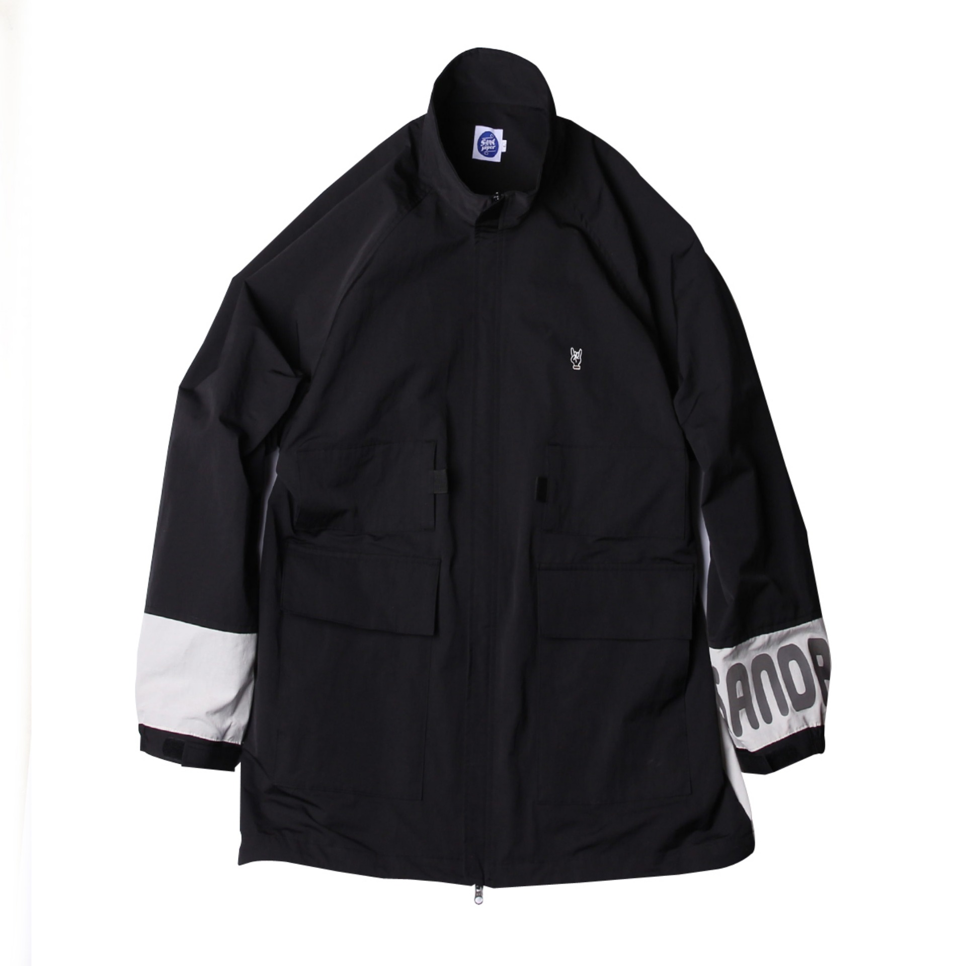 PACKABLE CAMPING JACKET(Black x Light Grey)