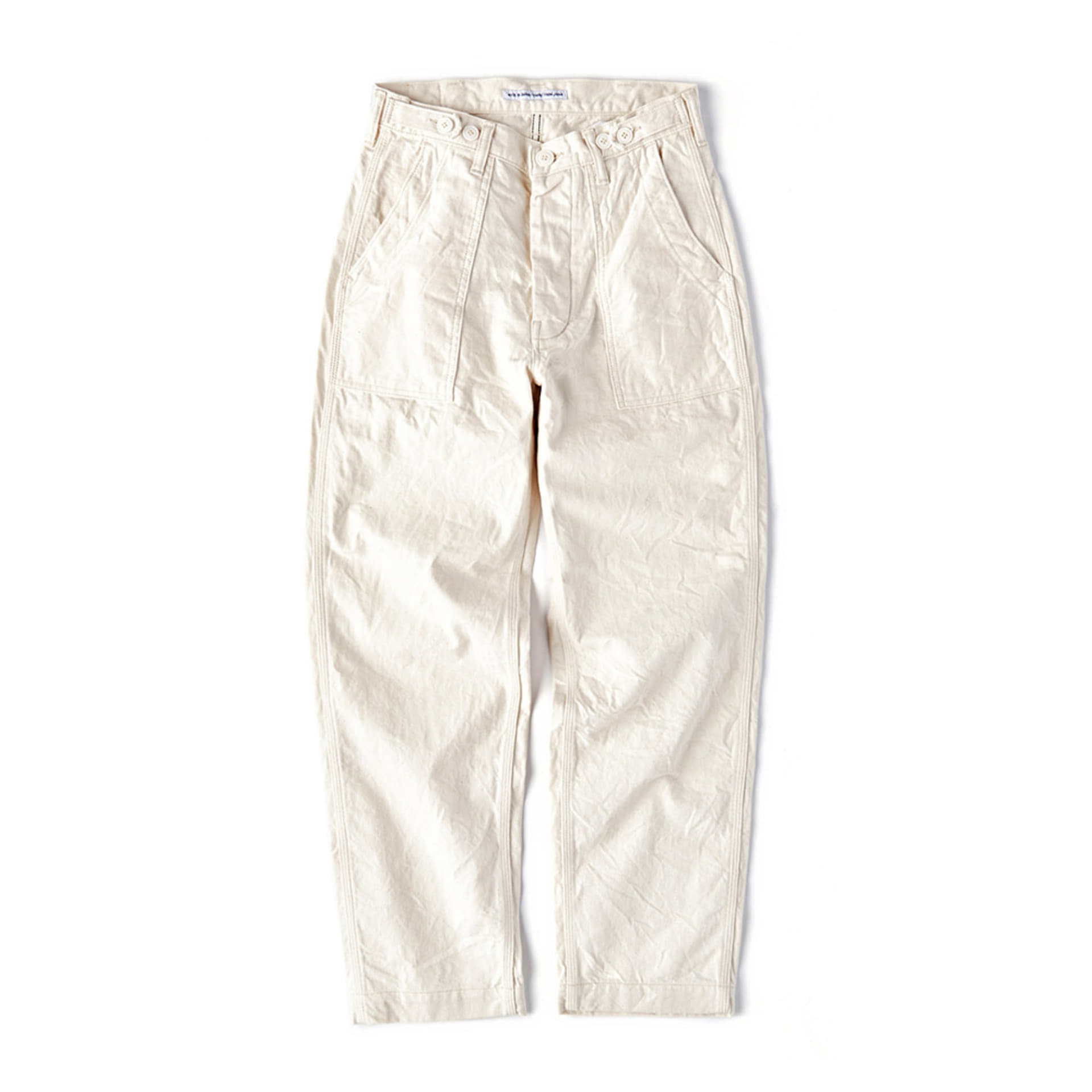 CWE-003 4 Pockets Ecru Fatigue Pants (Regular Straight - ECRU)