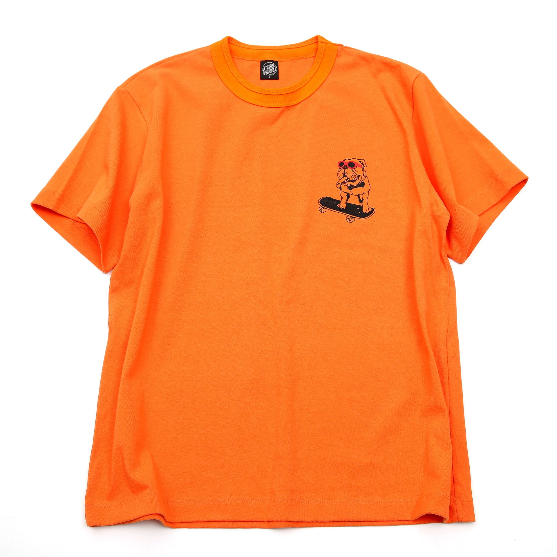 PET BULLDOG T SHIRT (ORANGE)