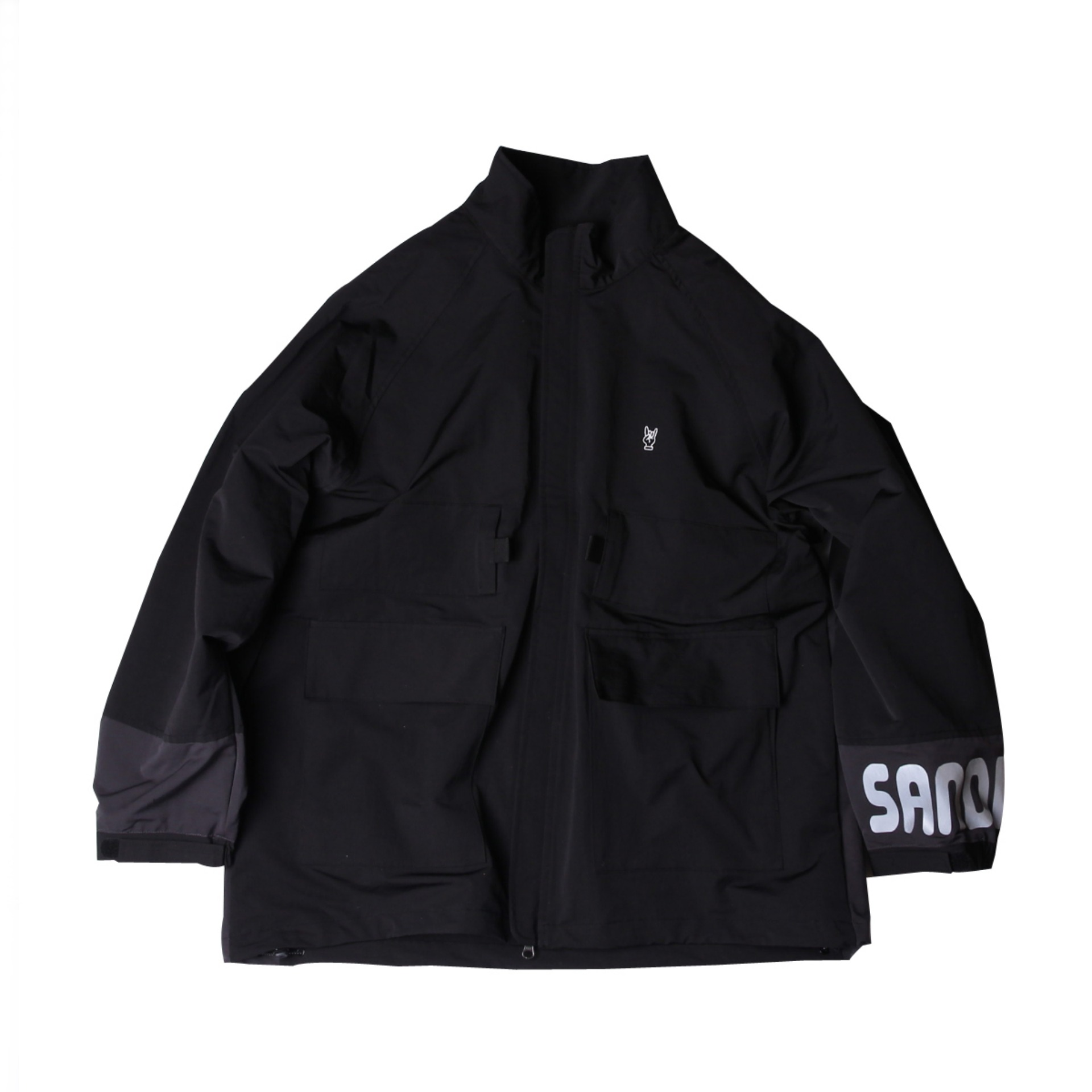 PACKABLE CAMPING JACKET(Black x Black)