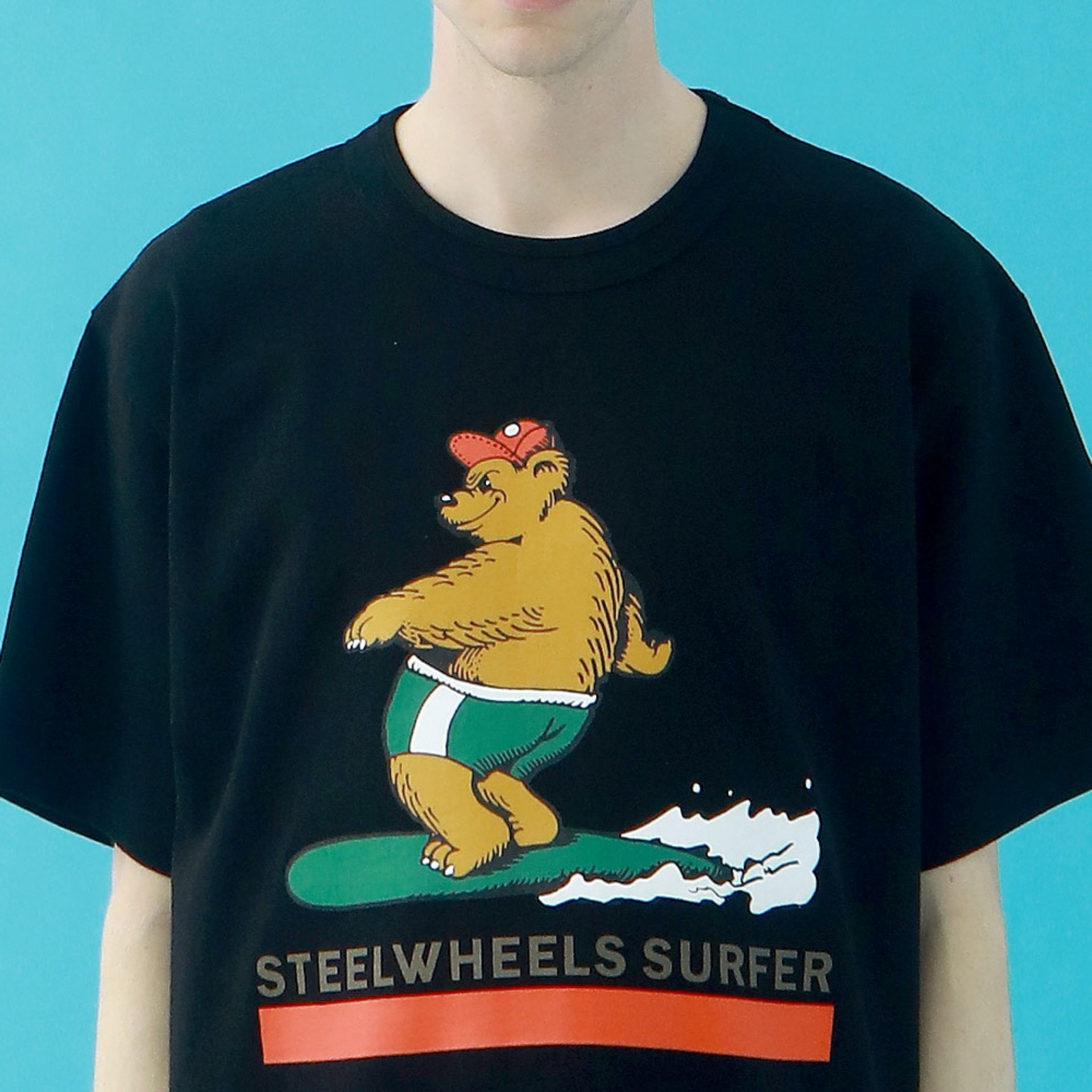 SURF BEAR 2 T-SHIRT(BLACK)