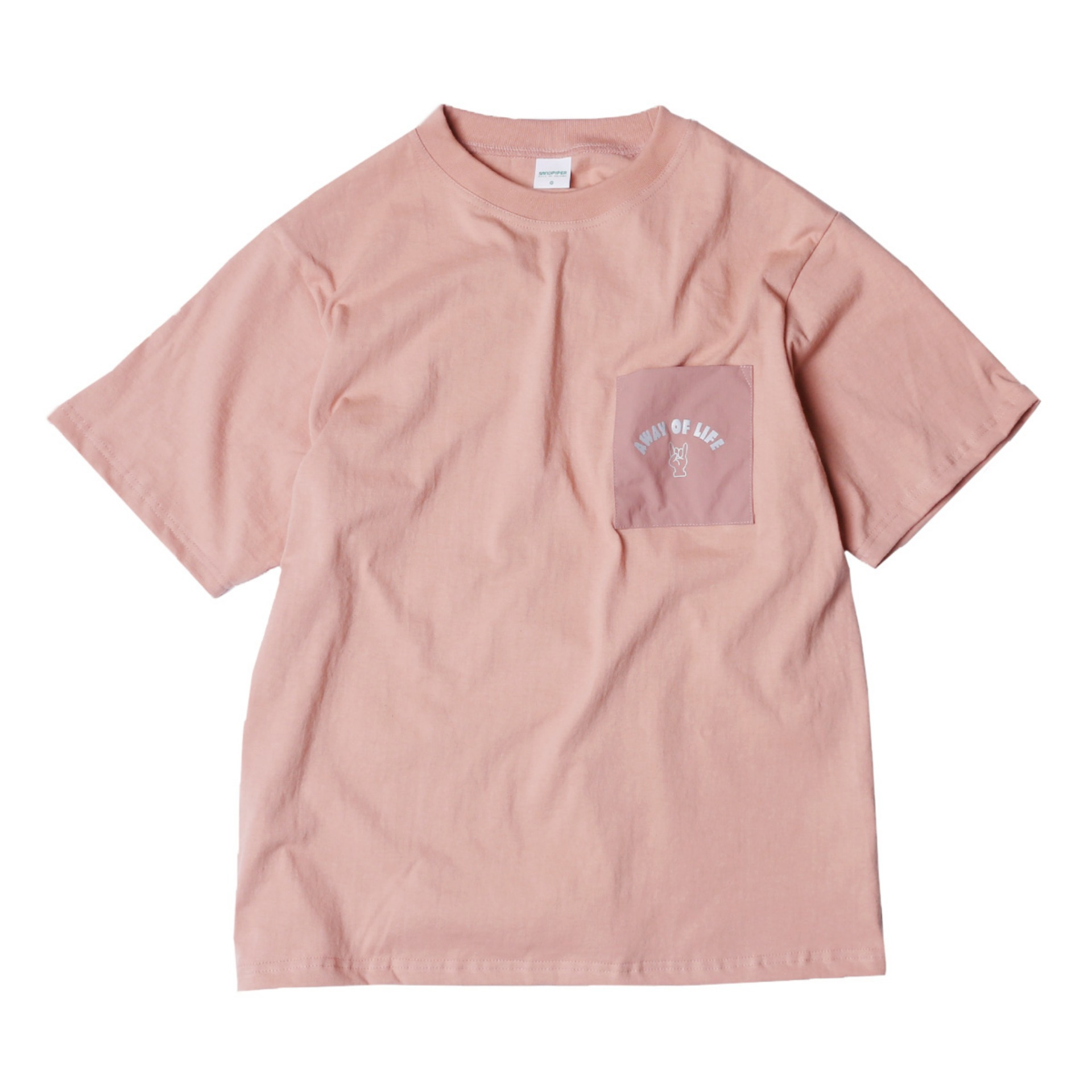 AWAY OF LIFE POCKET T SHIRTS(INDI PINK)
