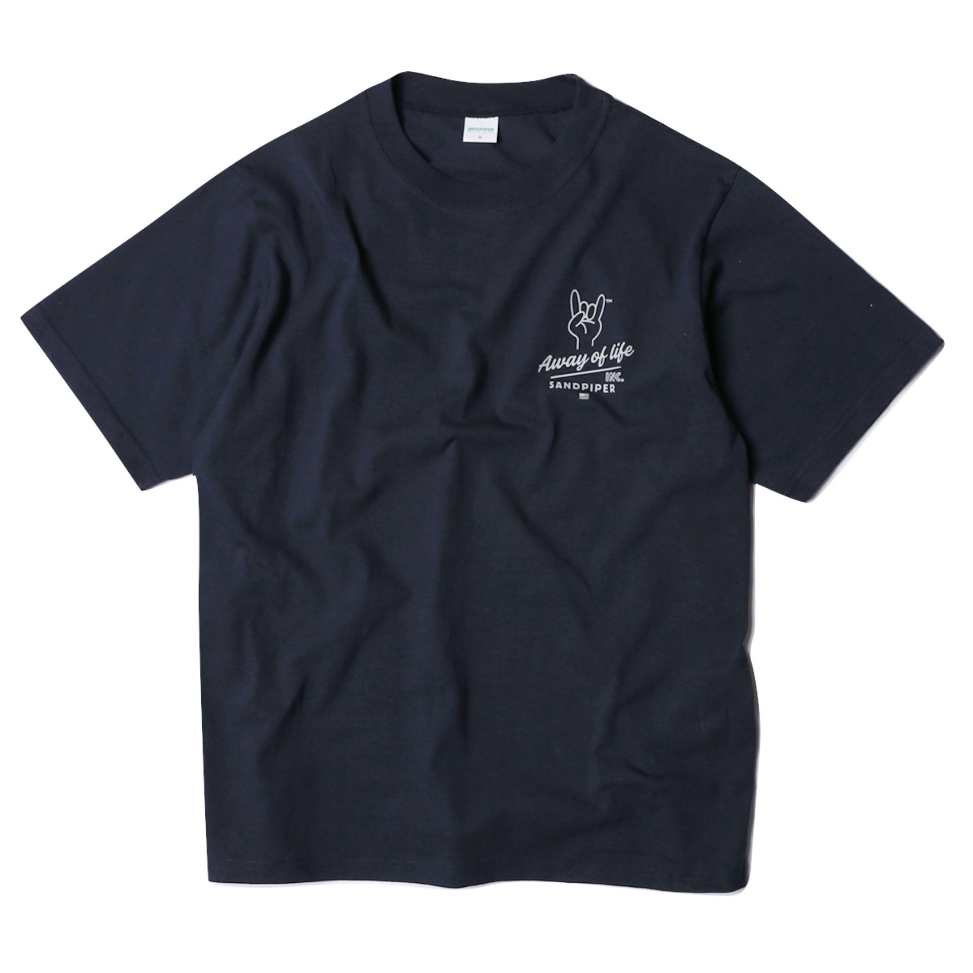 FINGER SIGNATURE T SHIRTS(FADE NAVY)