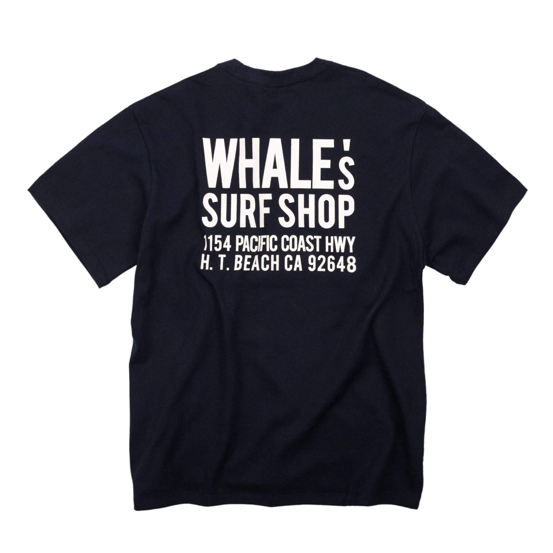 WHALE'S ADDRESS T-SHIRT (NAVY)