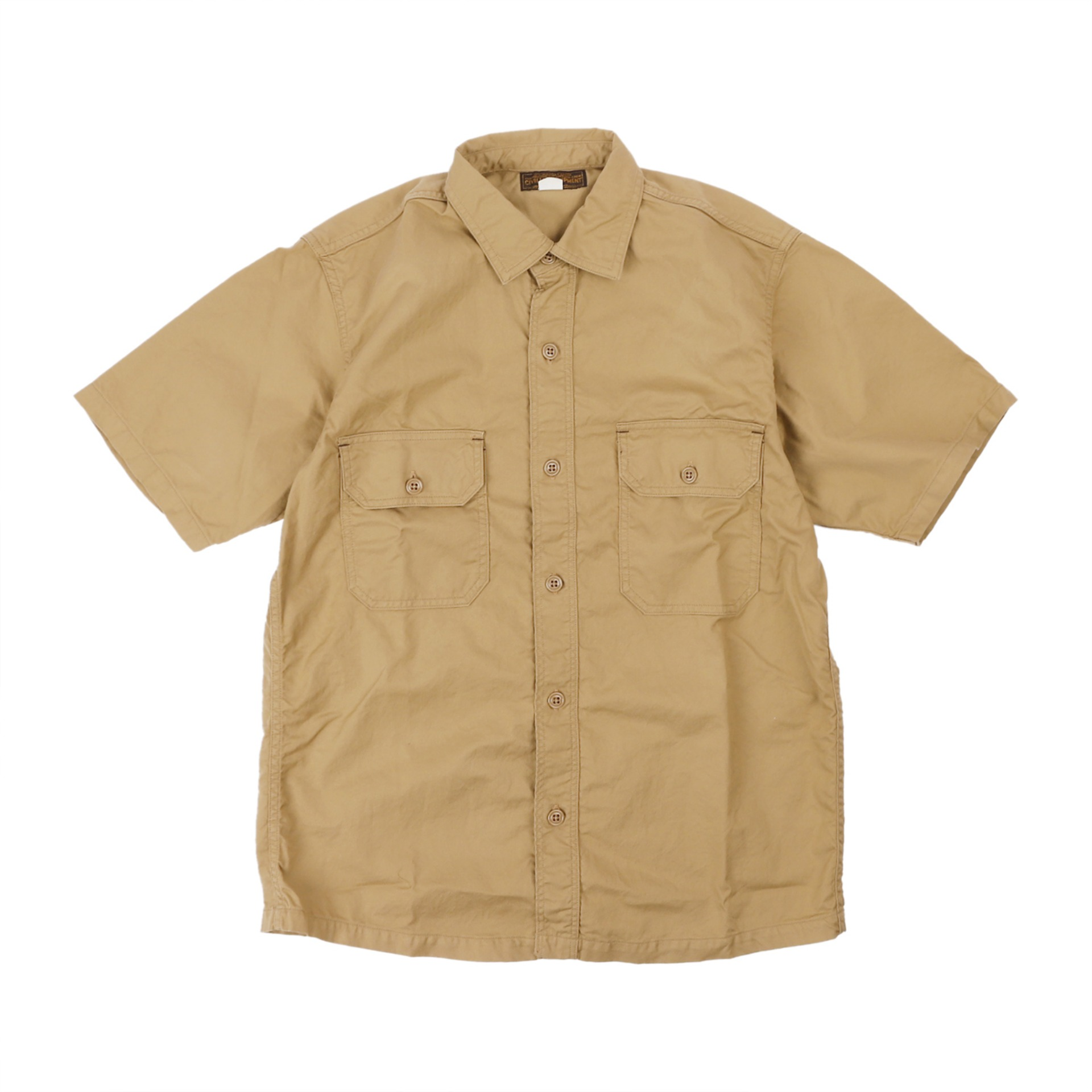[The Union Special Overalls]CIVILIAN MILITARY  SHIRTSUTILITY SHORT SLEEVE SHIRT(BEIGE)