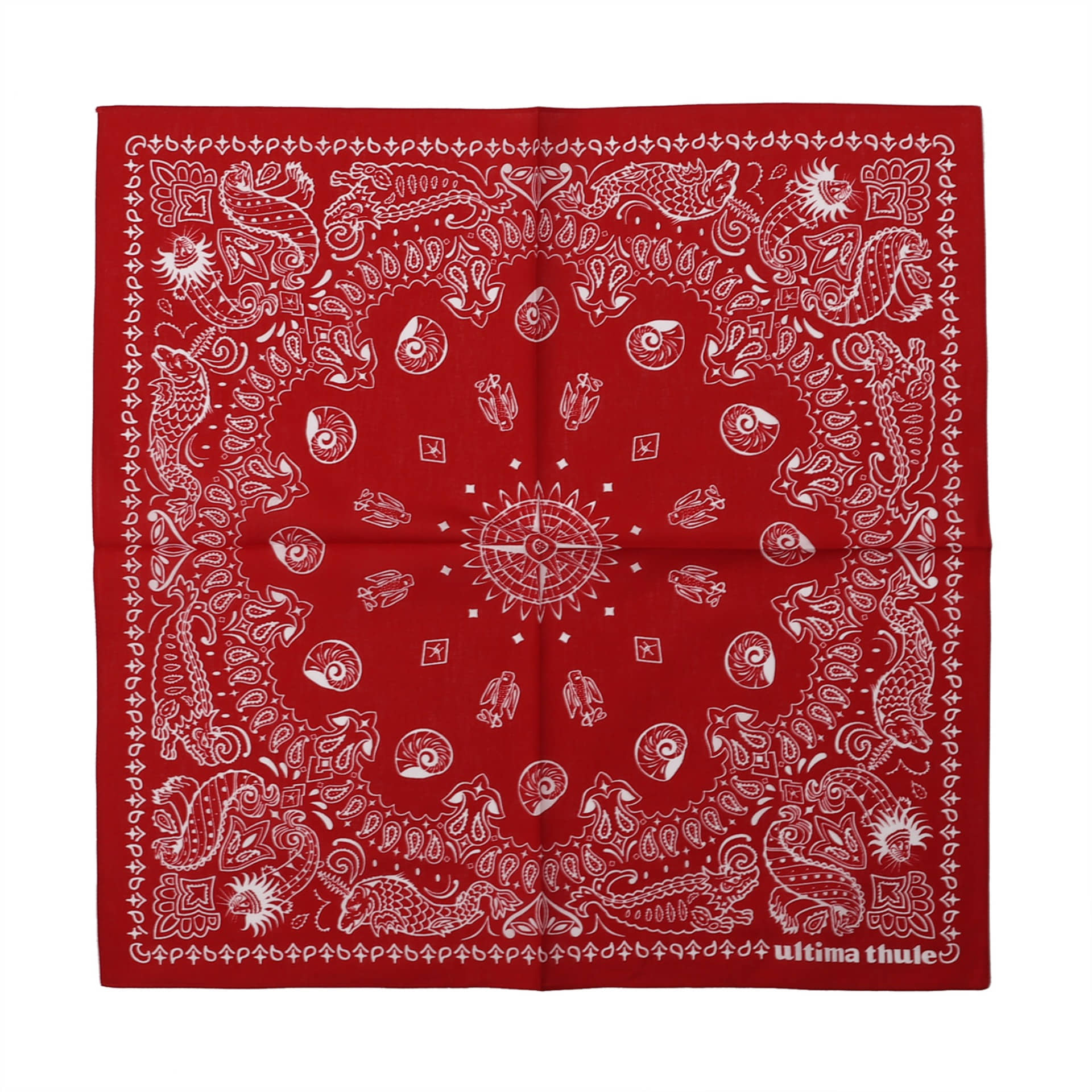 "[Ultima Thule]Equipment Bandana""WHIRLPOOL""(Red)"
