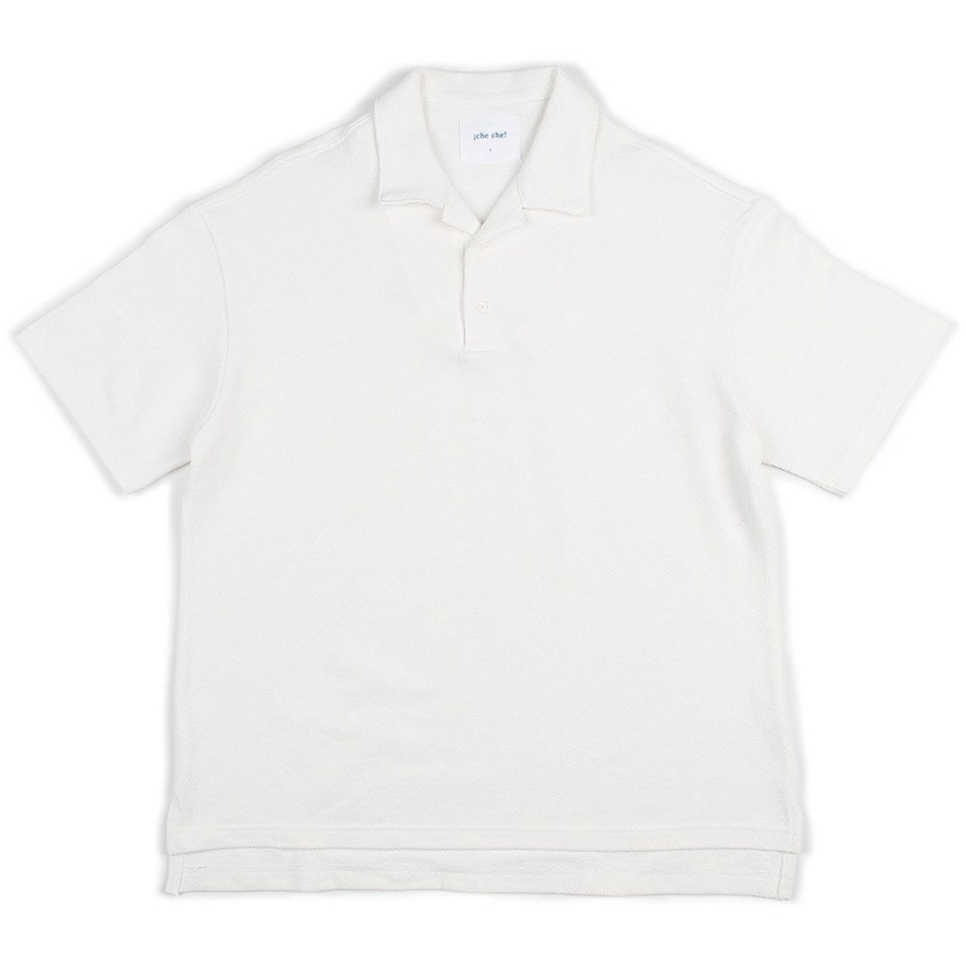 BIG SILHOUTTE PIQUE POLO(OPEN COLLOAR) (OFF WHITE)