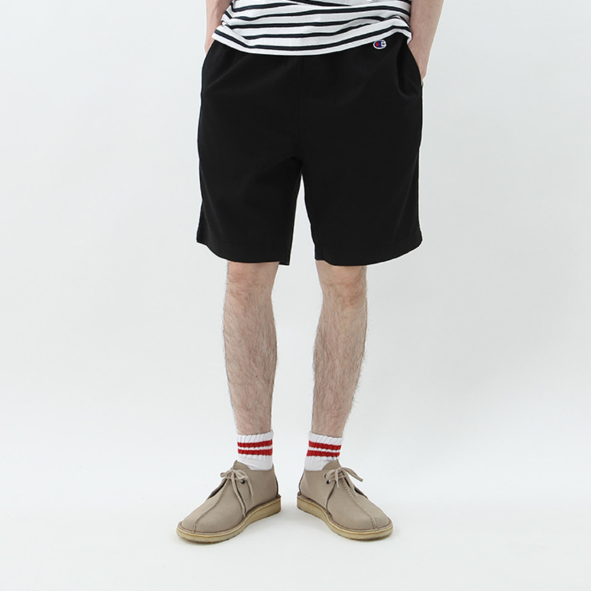 COTTON TWILL SHORTS - BLACK(C3-H518)