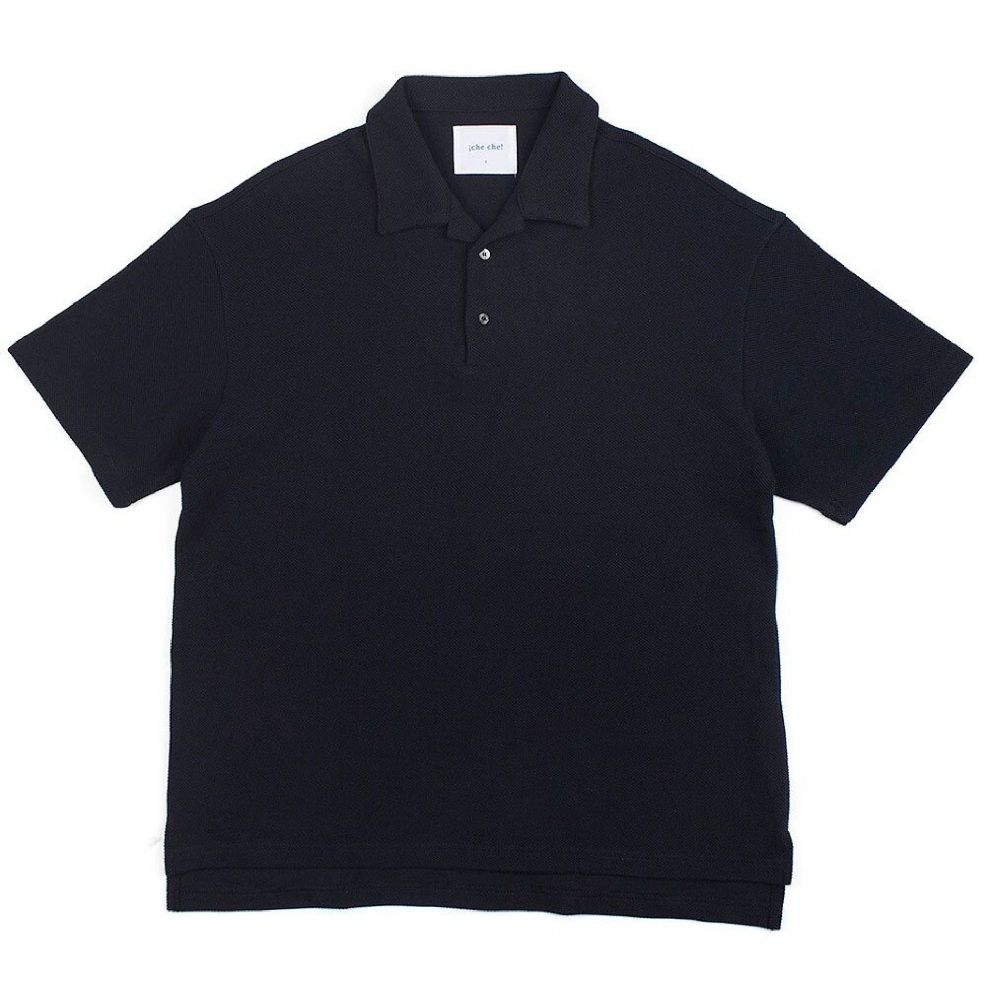 BIG SILHOUTTE PIQUE POLO (OPEN COLLOAR) (DEEP NAVY)