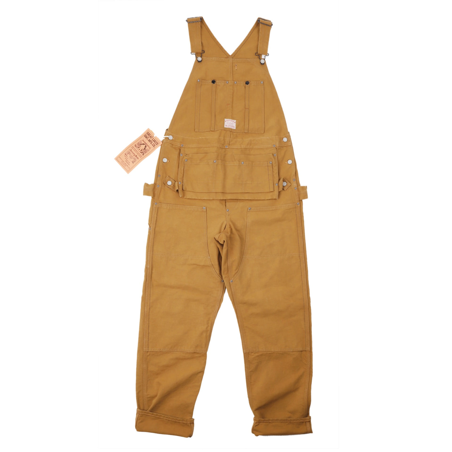 "[Great Lakes GMT. MFG. Co.]BIB Overalls""WOODSMAN"" (Yellow Brown)"