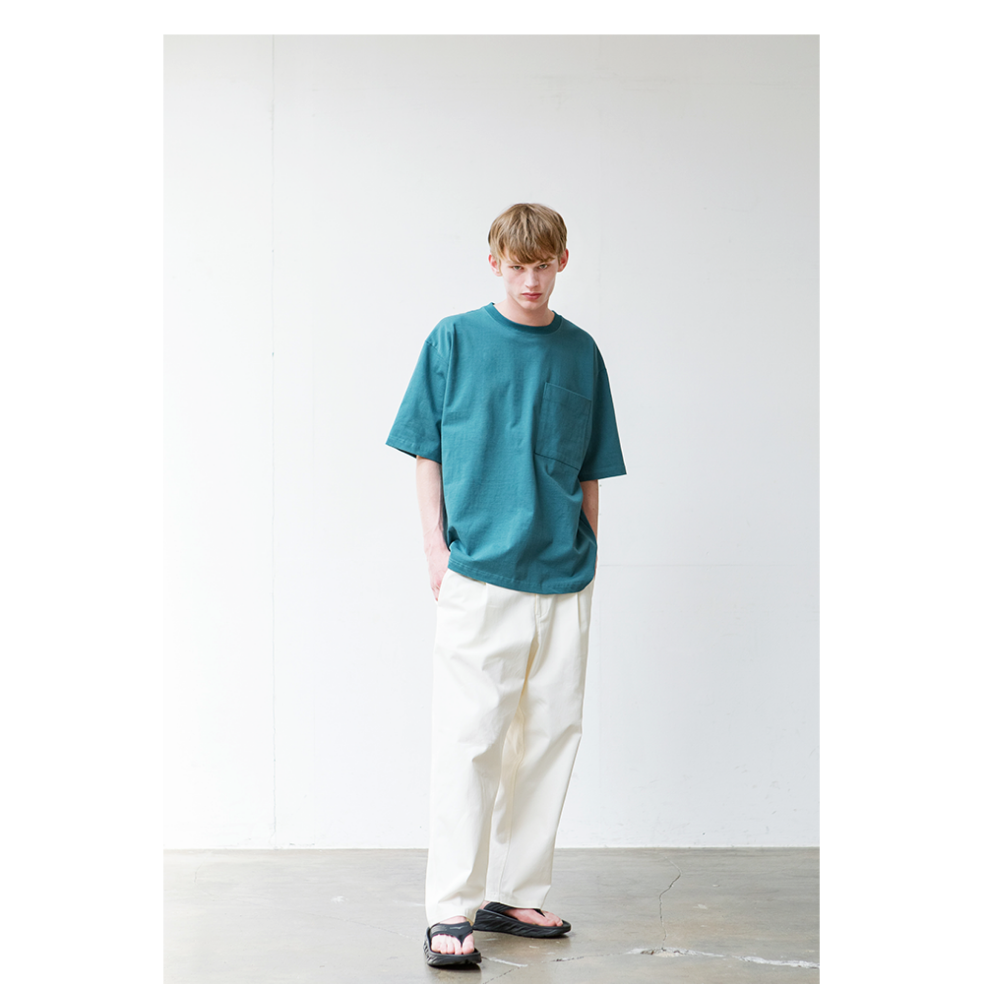 HEAVYWEIGT POCKET T (PEACOCK GREEN)
