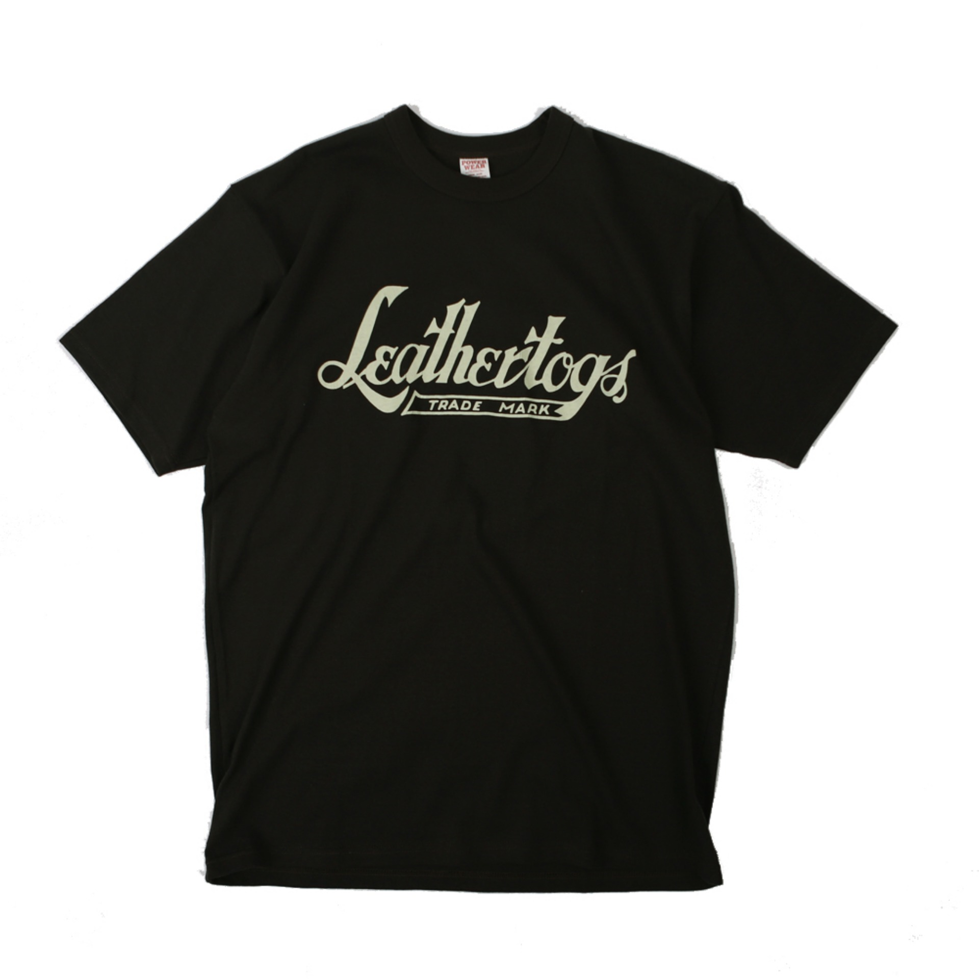 "[PowerWear]Medium Weight T-Shirt ""Leather Togs"" (Jet Black)"