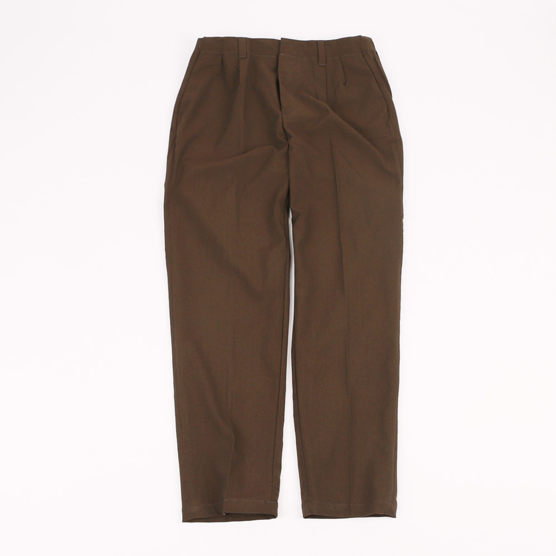 STILL BY HAND RELAX 2 TUCK PANTS Brown