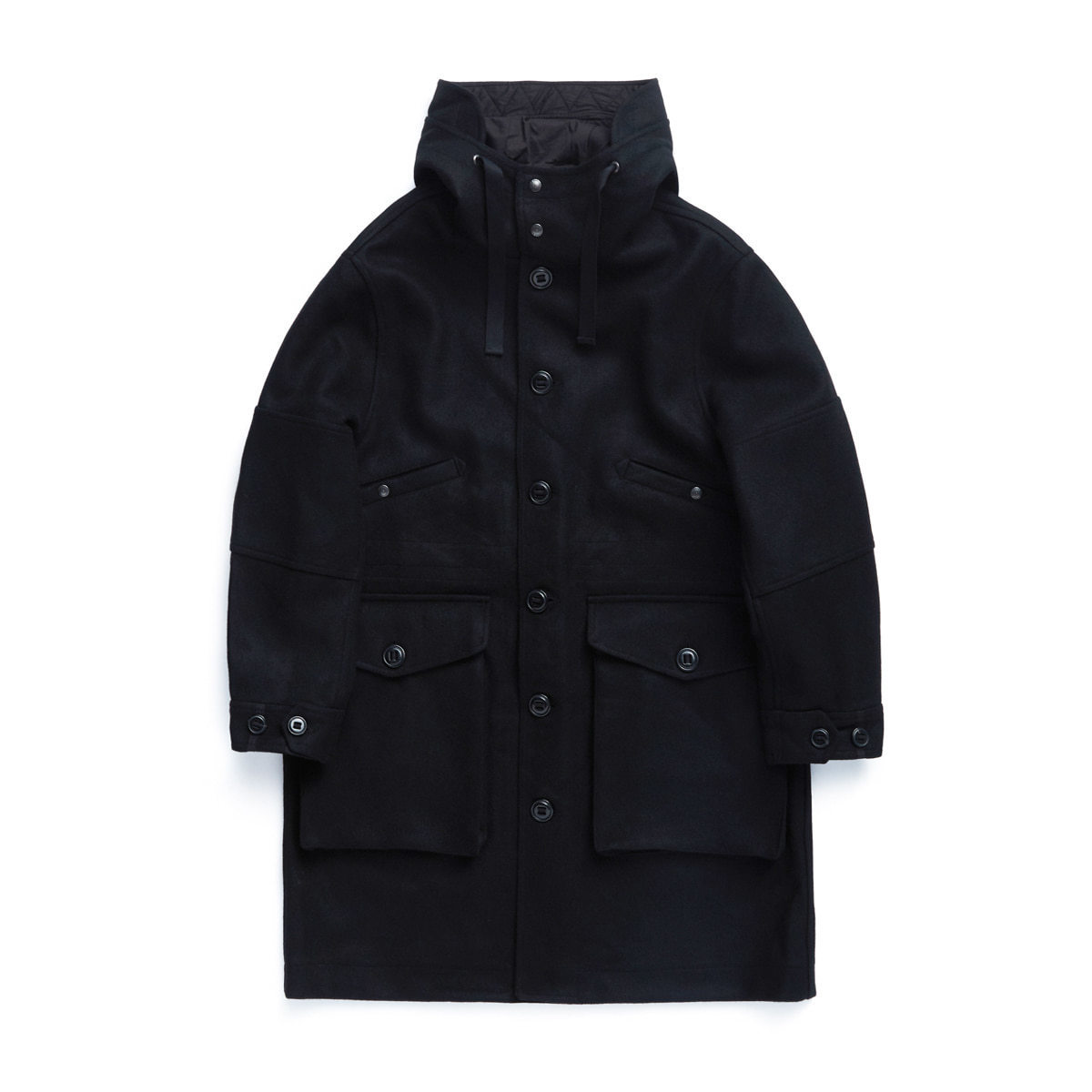 ECW PARKA (BLACK HEAVY MELTON)