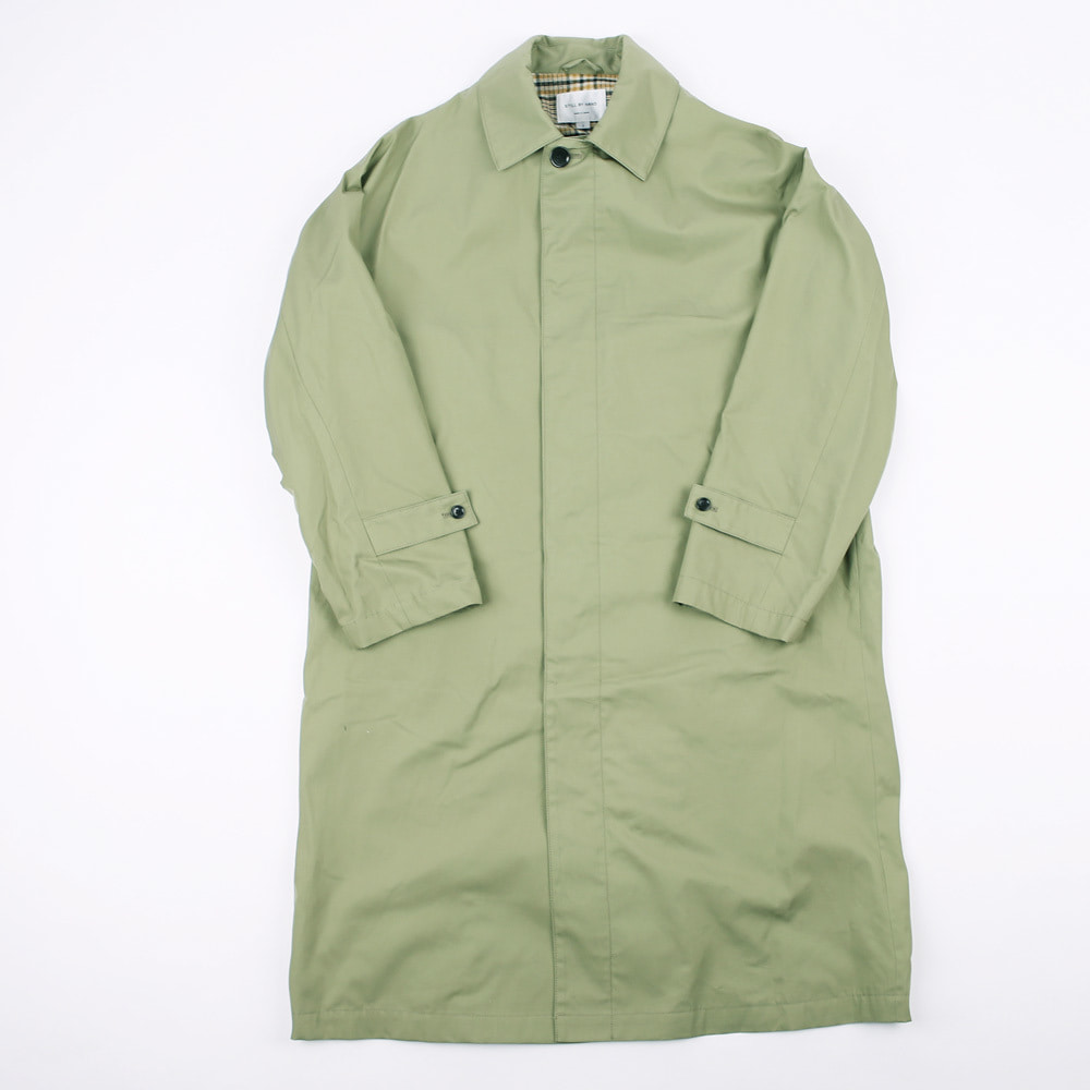 OVERSIZED BAL COLLAR COAT (Olive)