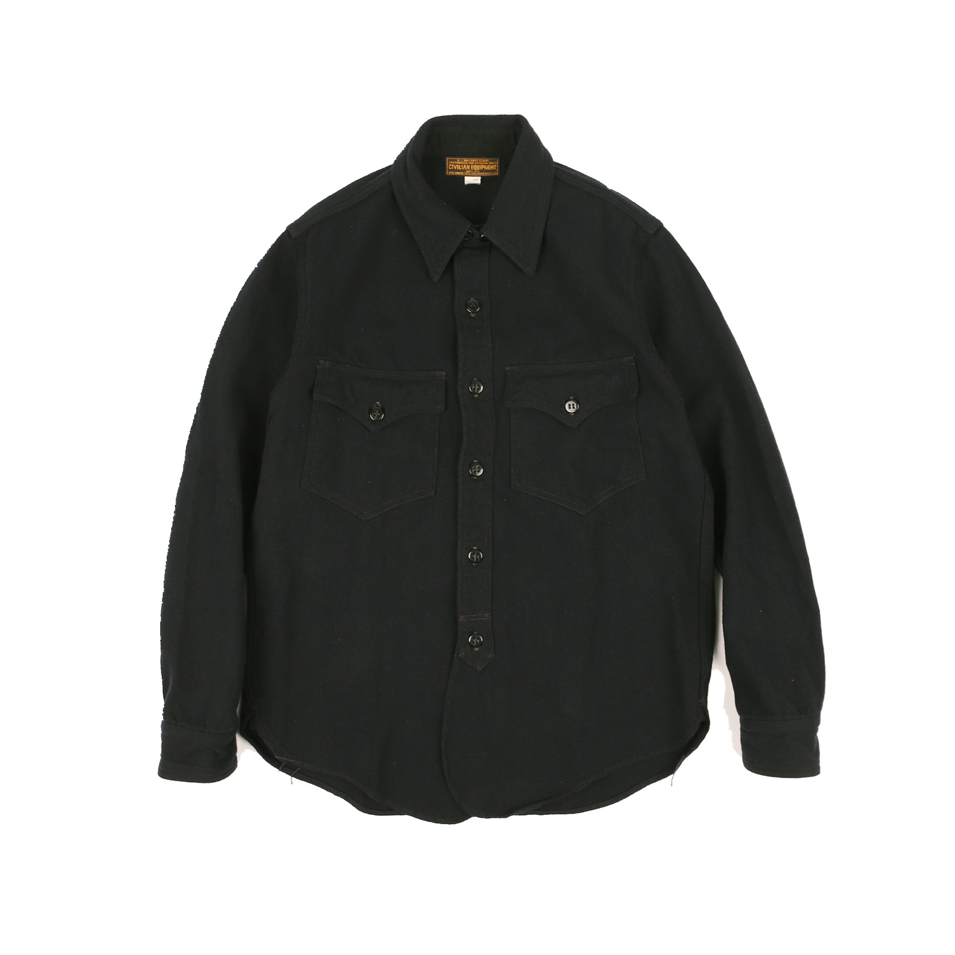 "[Union Special Ovealls]Military Shirt""OFFICER SHIRT""(Navy)"