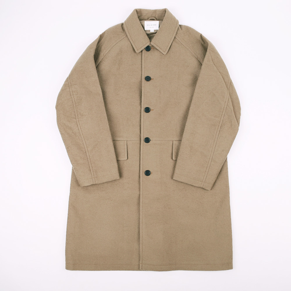 BONDED BALL COLLAR COAT (Beige)