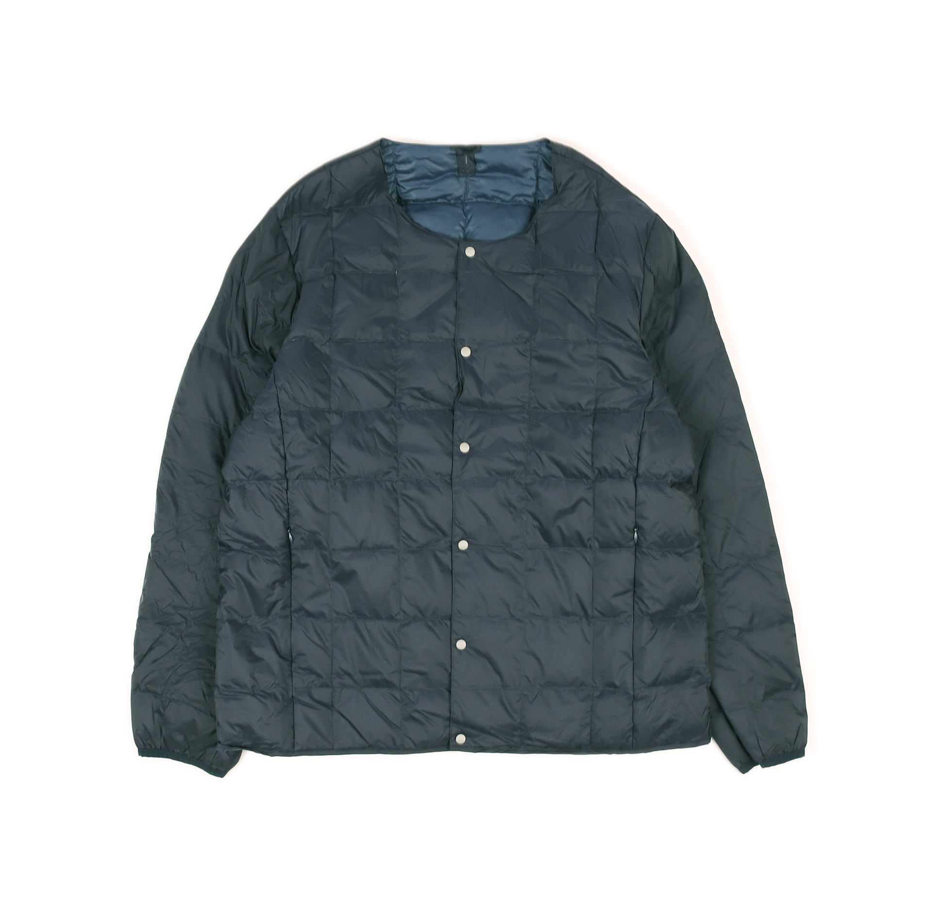 CREW NECK BUTTON DOWN JACKET TAION-104 (Navy)