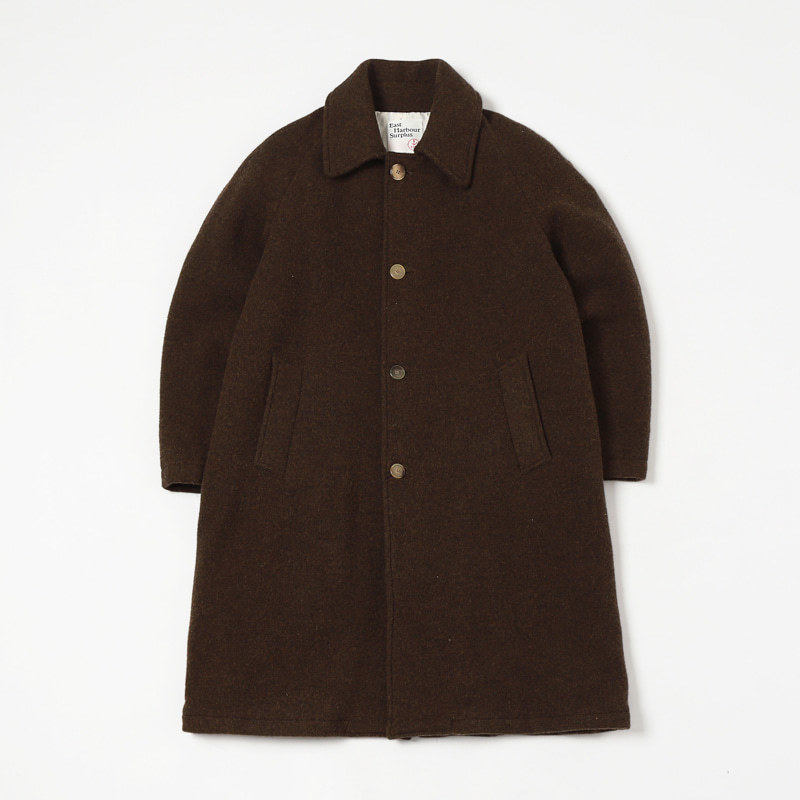 PETER LONG COAT (DARK BROWN)
