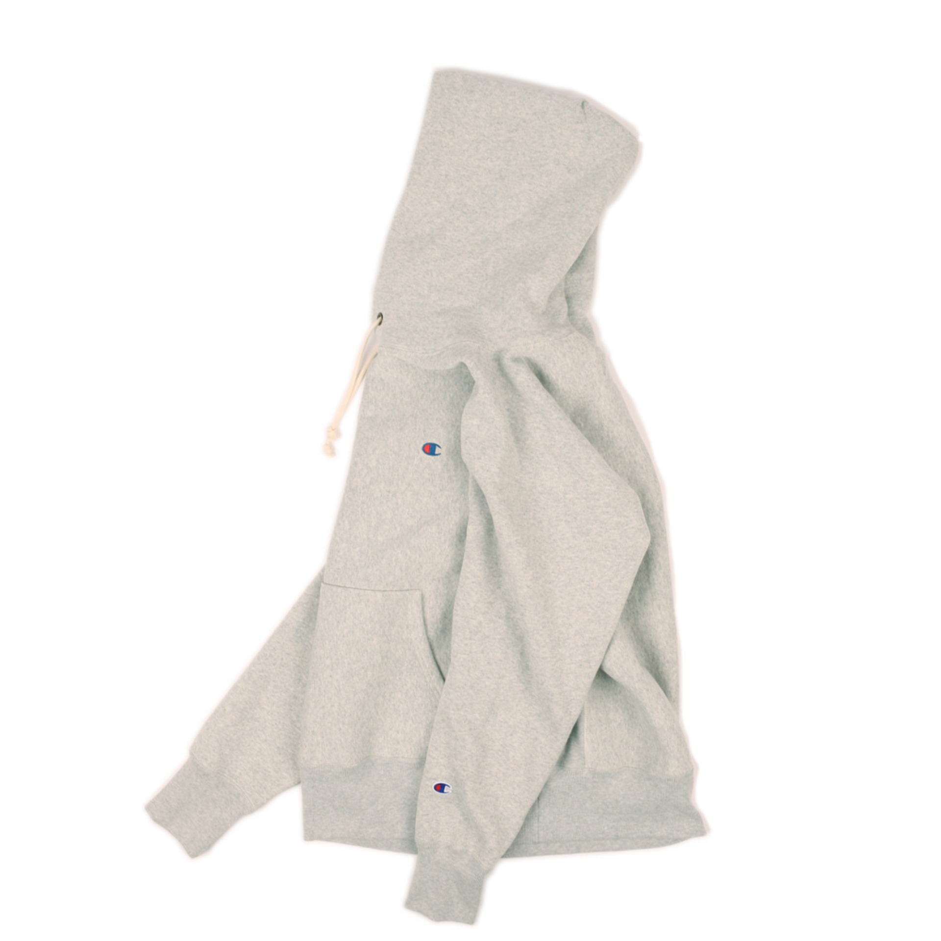 BIG SILHOUETTE HOOD SWEATSHIRT 11.5oz (Melange Gray)