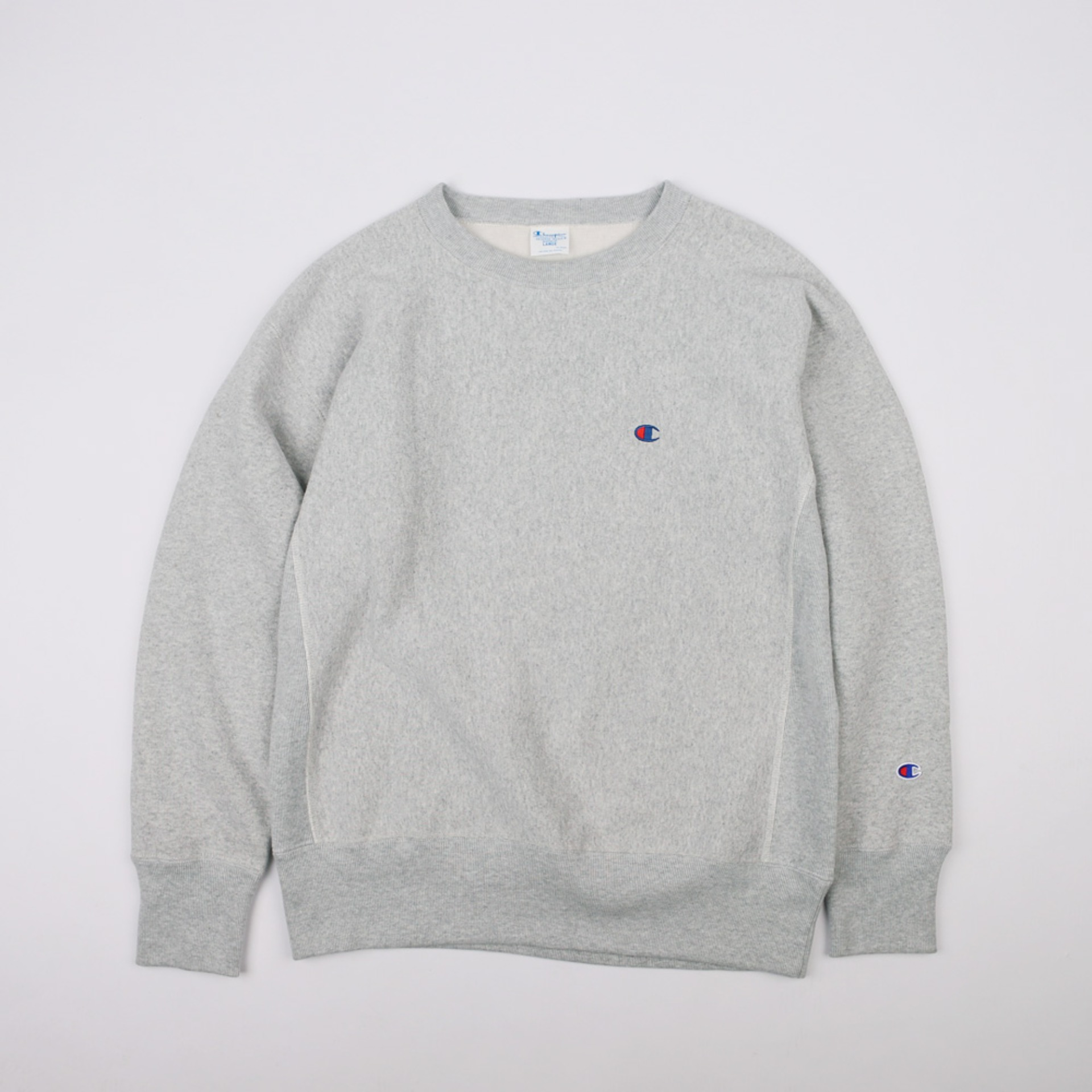 BLUE TAG BIG SILHOUETTE CREW NECK SWEAT 11.5oz (Gray Melange)