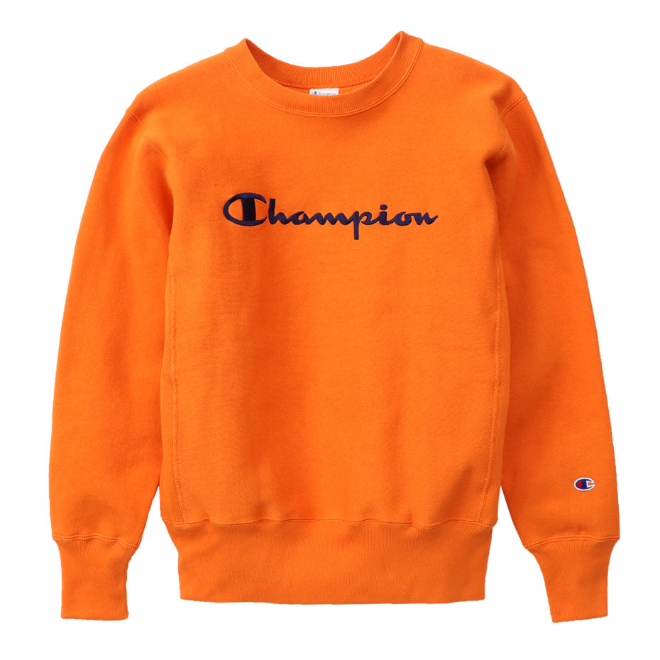 Reverse Weave®11.5OZ Blue Tag CREW NECK SWEAT (Orange)