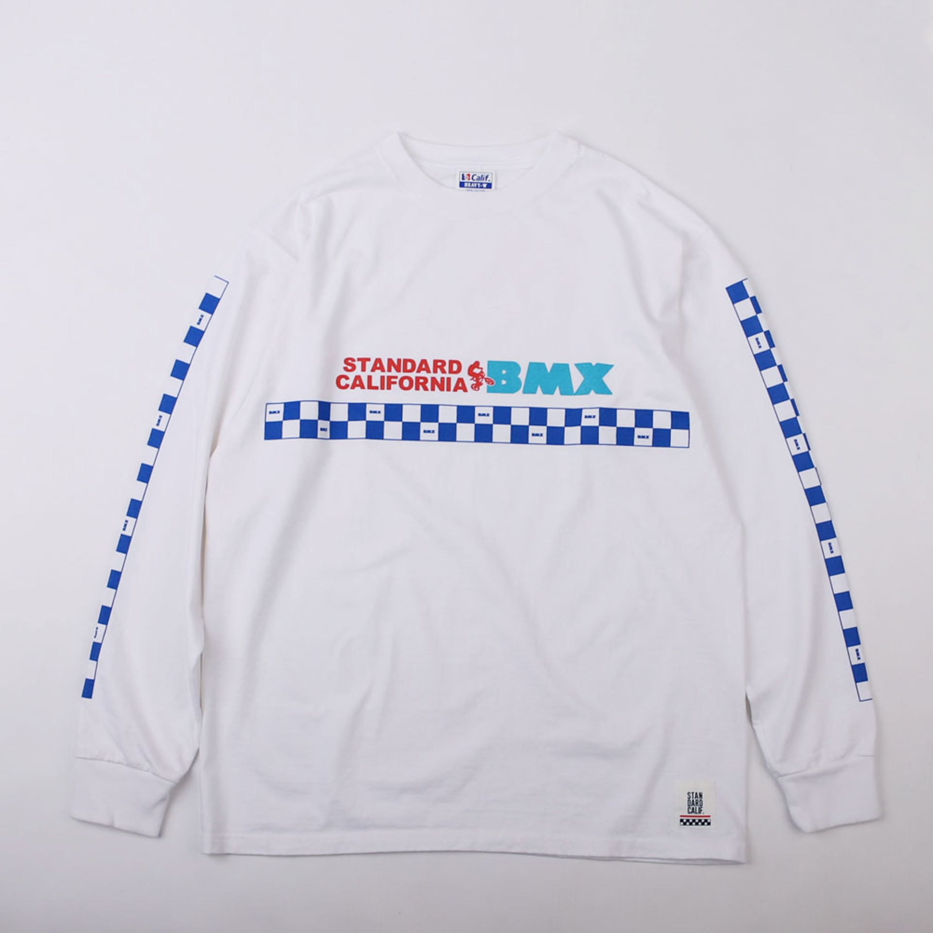 SD Heavyweight BMX Logo Long Sleeve T (White)