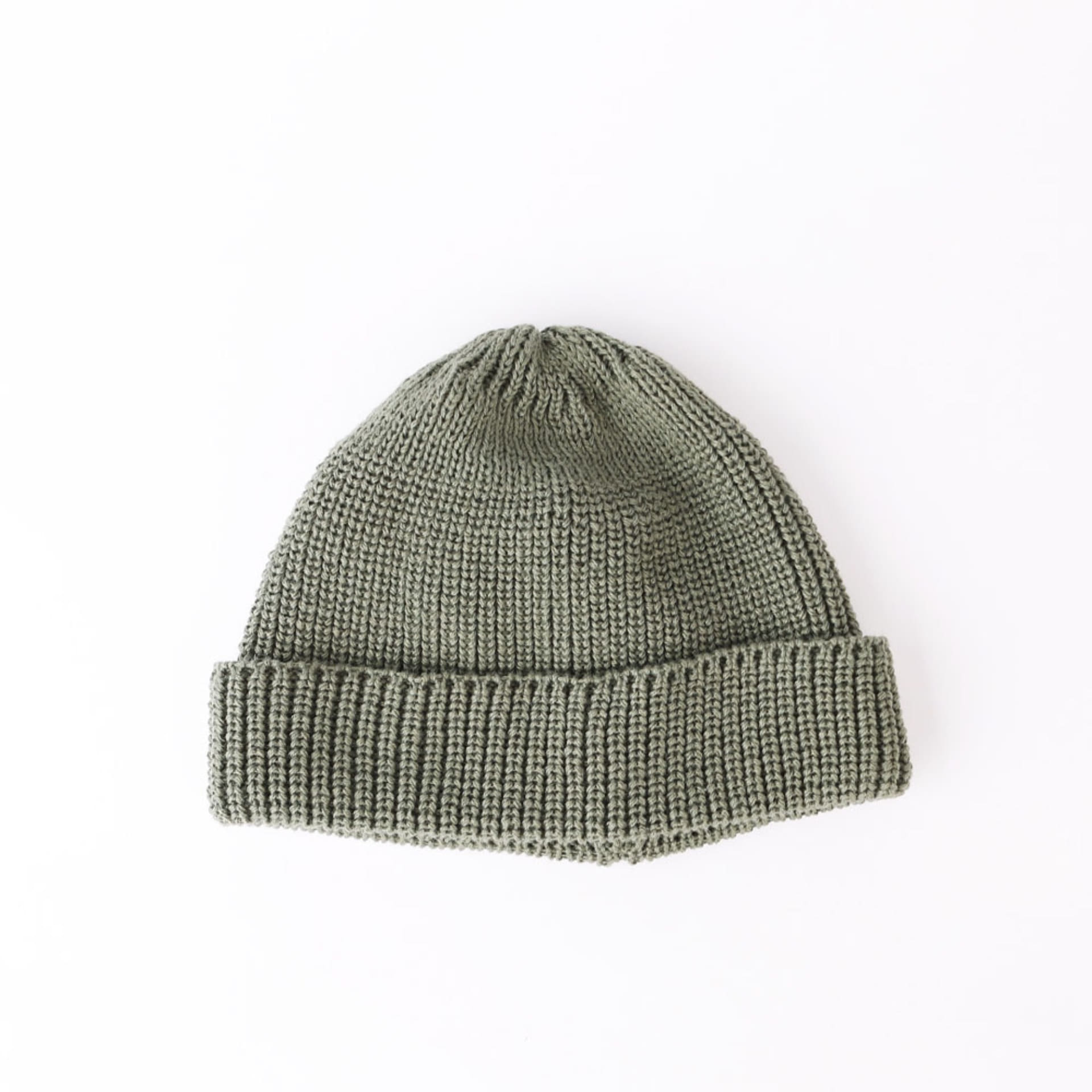 Wafager Cotton Short Beanie (Khaki)
