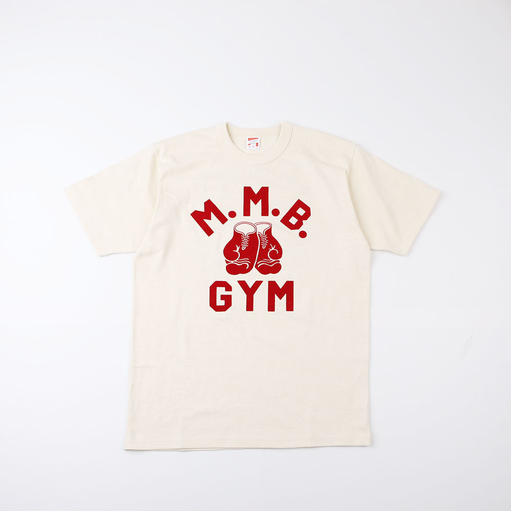 "[Power Wear]Set In Sleeve T-shirt ""MIGHTY MICK 'S BOXING GYM""(Straw Cream)(RESTOCK)"