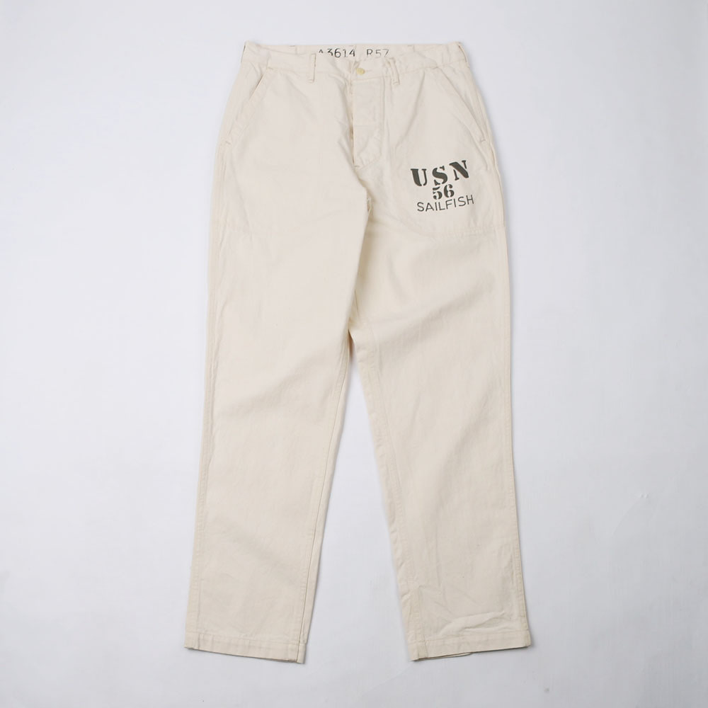 "Military PantsThe DIXIE DENIM PANTS CUSTOM""USN 56 SAILFISH""(Ecru)"