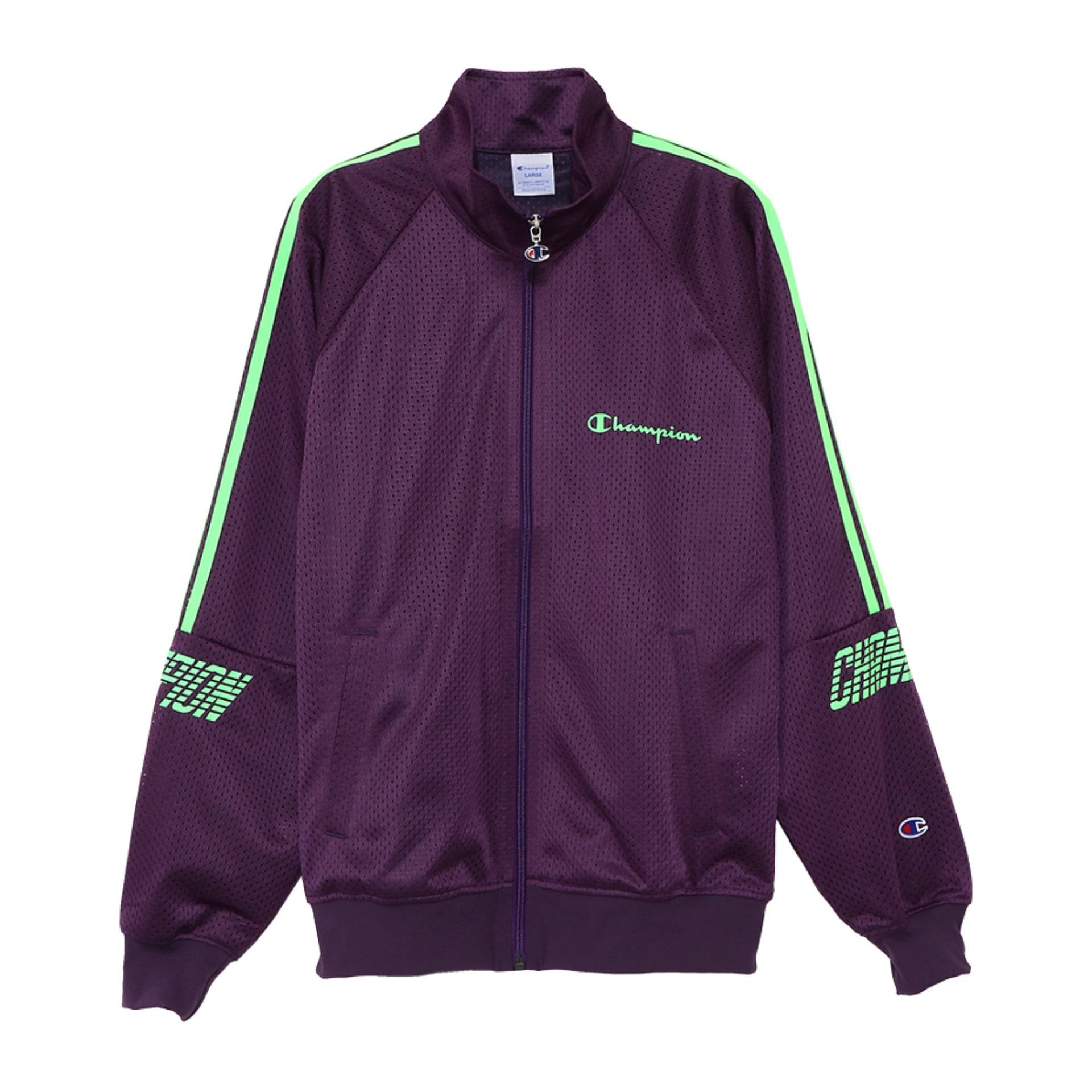 ACTION STYLE PULL ZIP-UP CHAMP MESH JACKET (Plum)