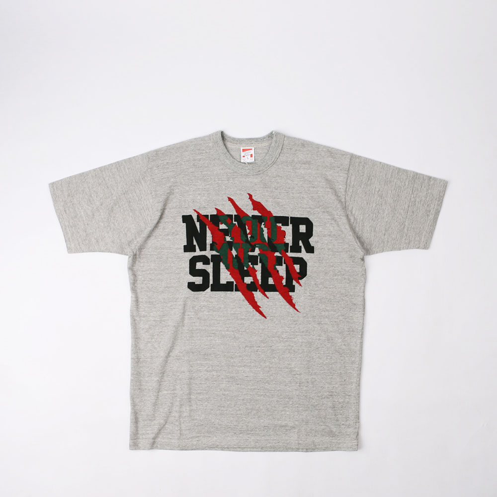 "[Power Wear]Set In Sleeve T-shirt ""SPRINGWOOD SLASHER""(Mix Gray)"