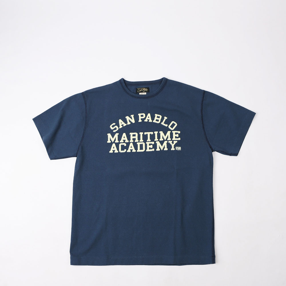 3 Needle TeeSAN FABLO M.A T-SHIRT (Navy)
