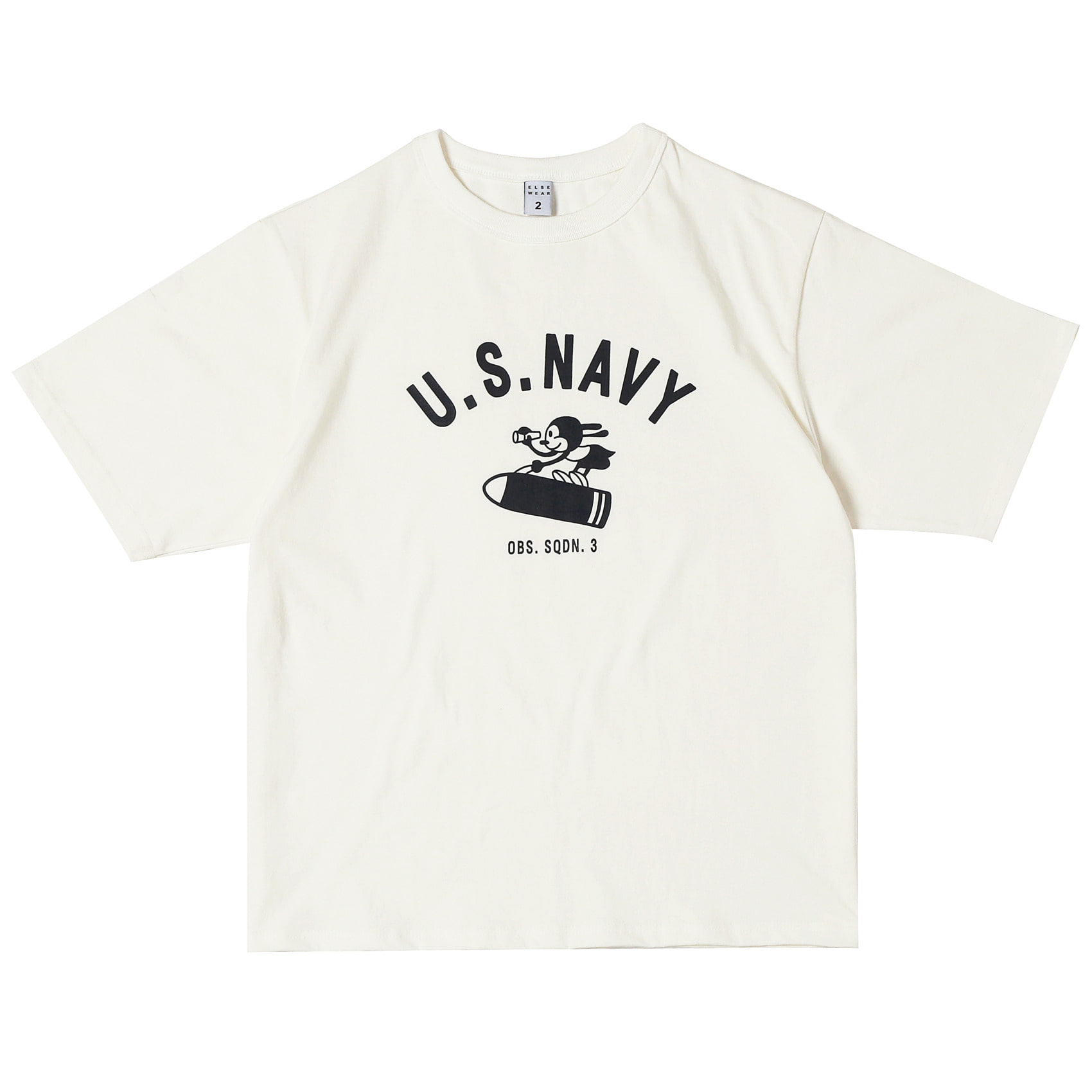 USN OSW RABBIT OVERSIZED S/S TEE(White)