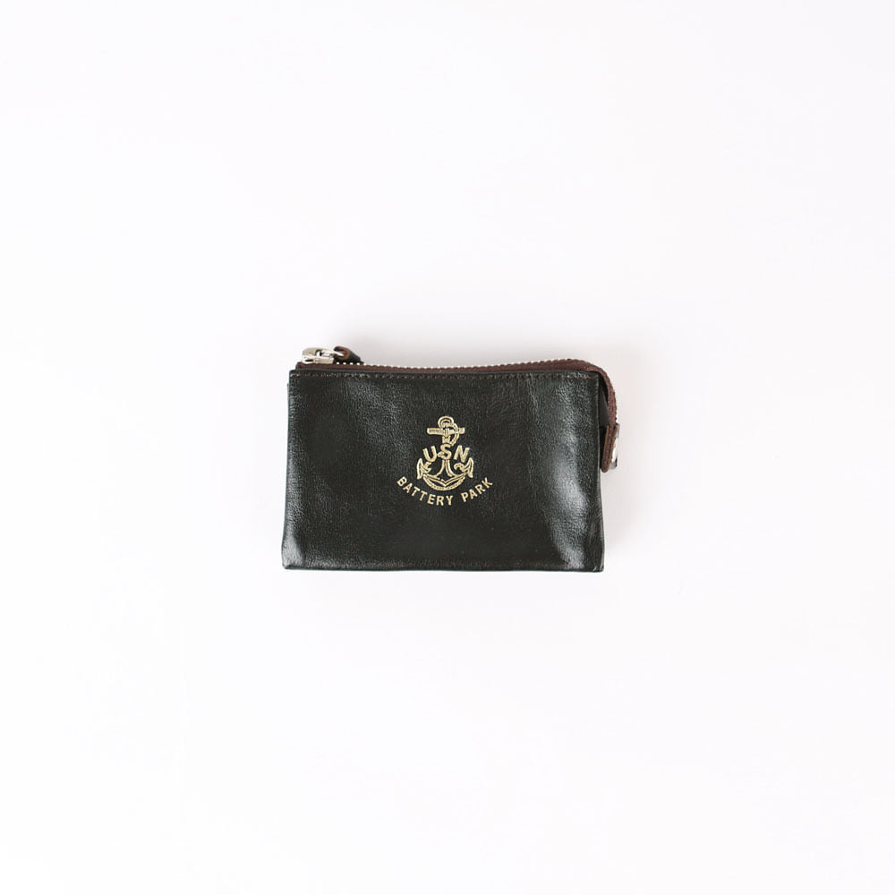 Card & Coin WalletHORSEBUTT BATTERY PARK CARD CASE(Black)