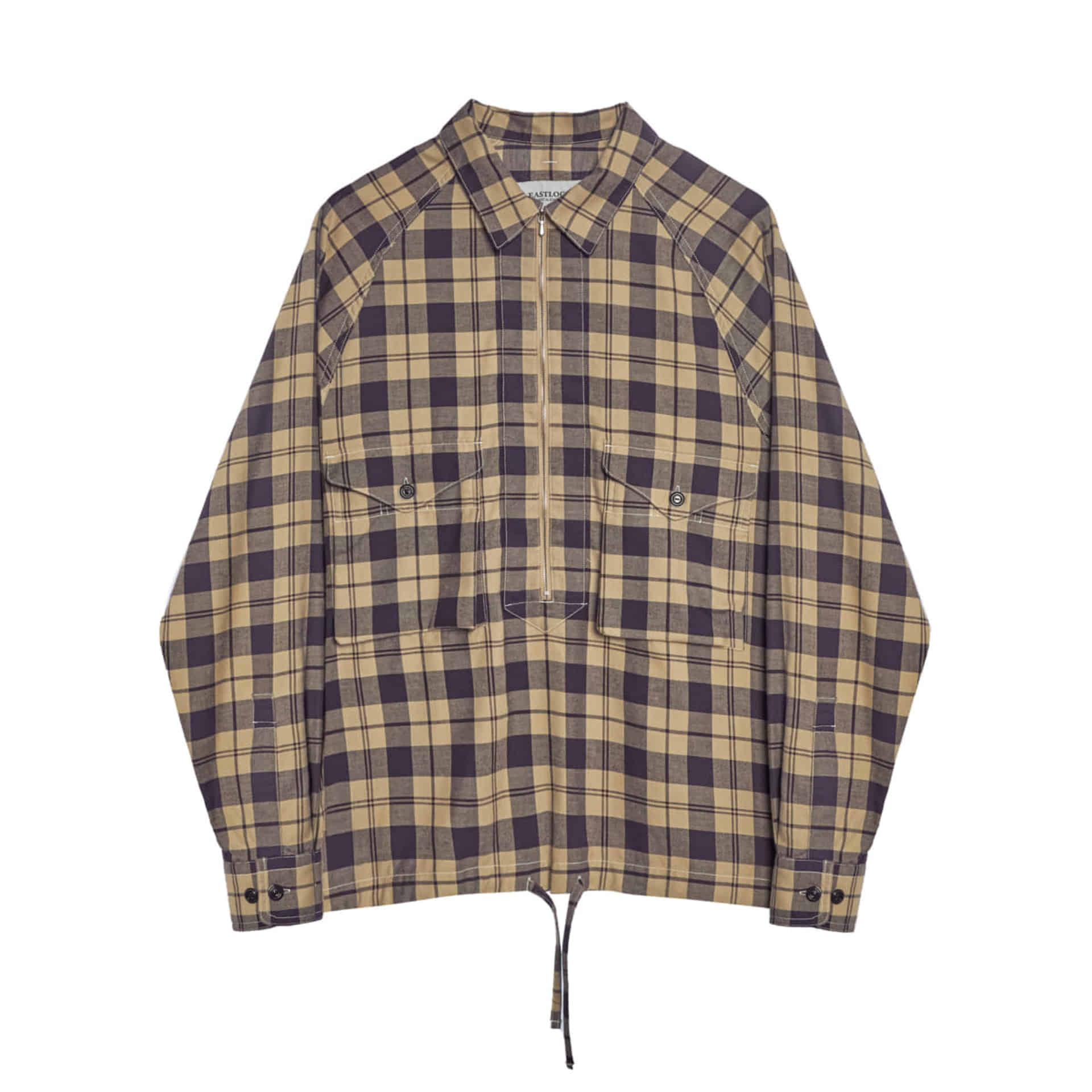 SCOUT PULLOVER SHIRT (PURPLE & IVORY CHECK)