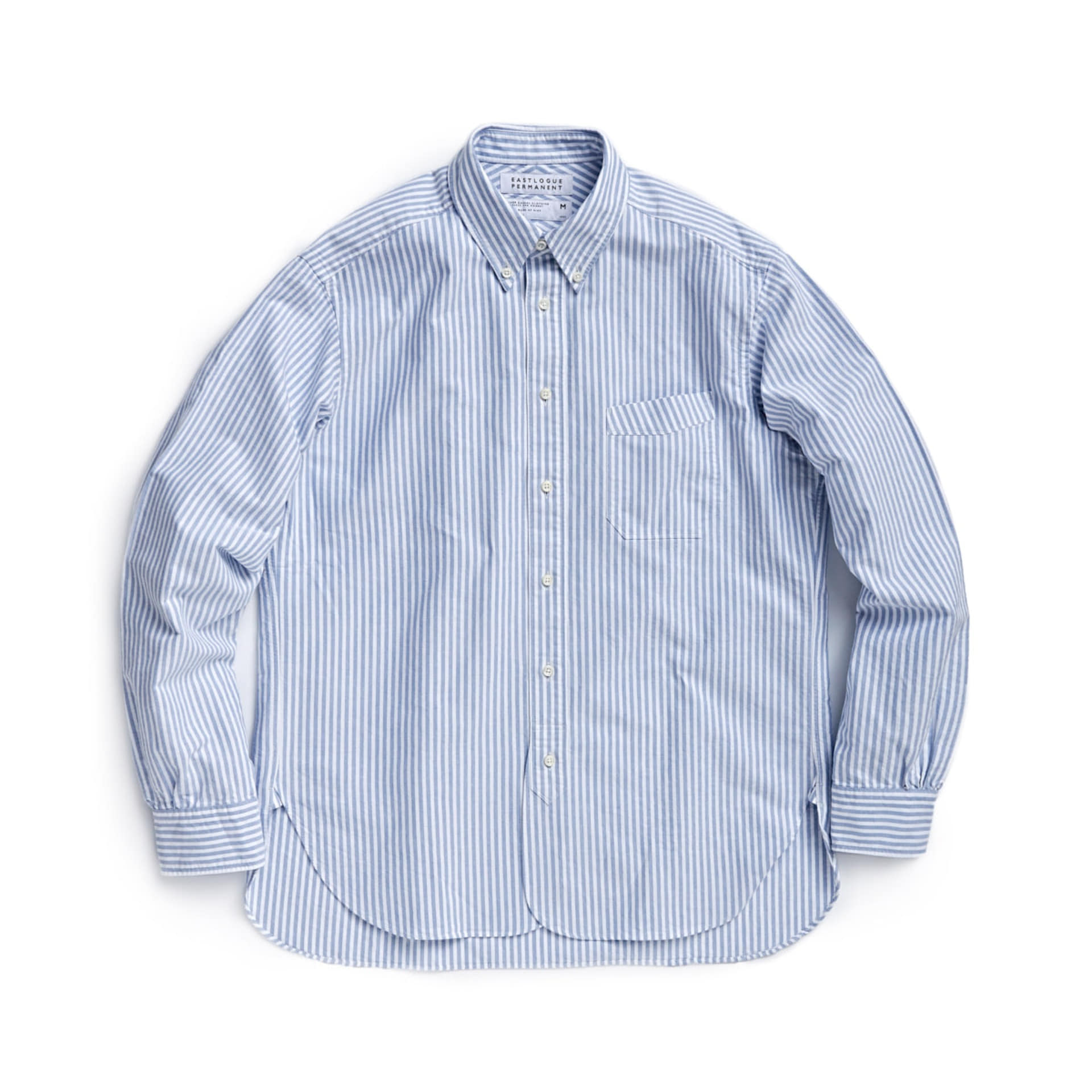 B.D REGULAR SHIRT (BLUE STRIPE OXFORD)