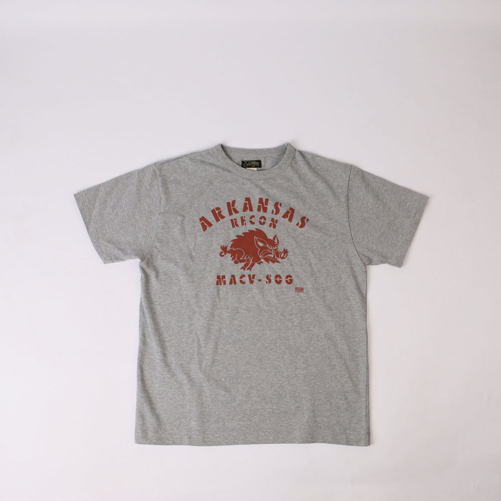"Heavy Weight JerseyFairfield Athletic Tee-shirt ""Arkansas Recon""(Grey)"