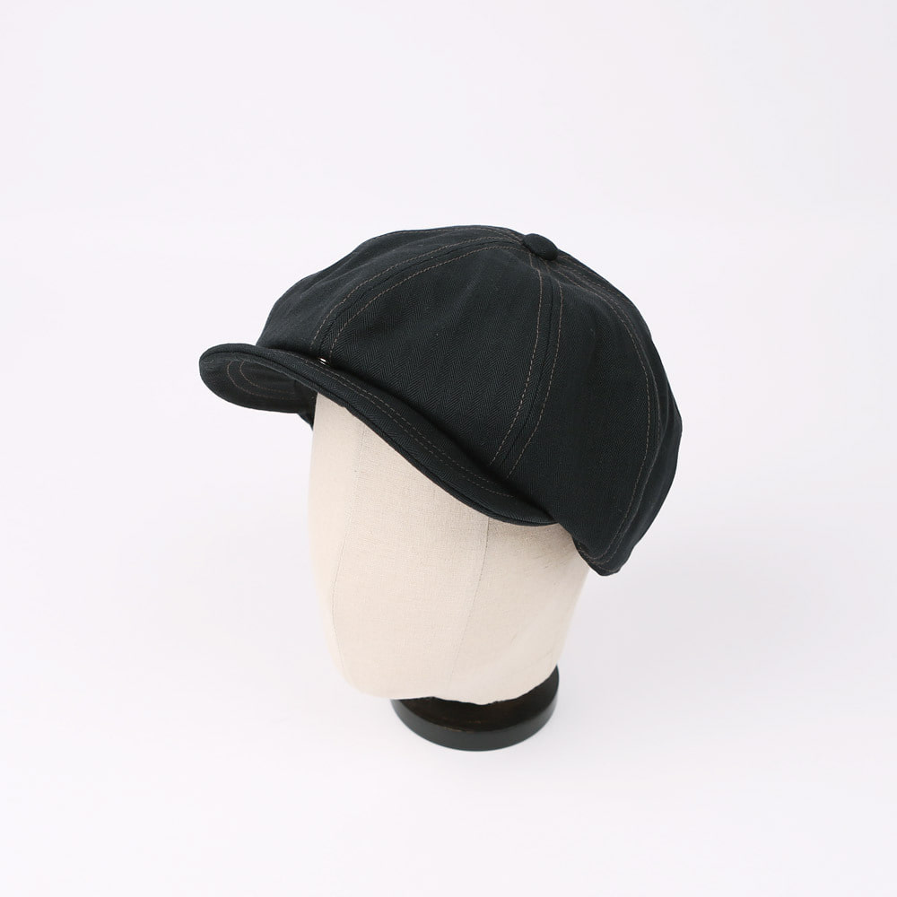 "[Union Special Overalls]Casquette""Dylan""(Herringbone Black)"