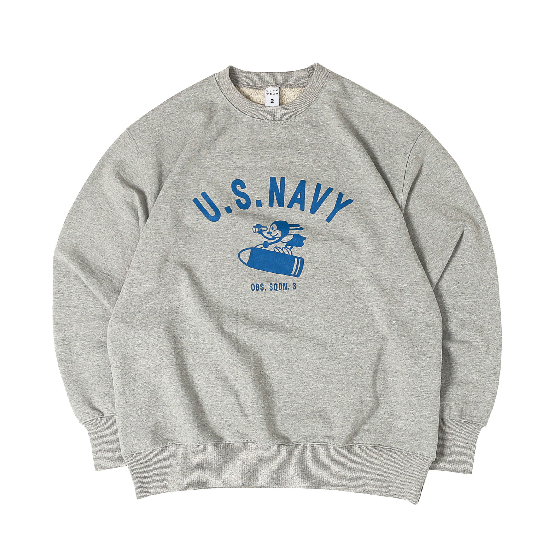 U.S.N LUCKY RABBIT SWEAT (Melange Gray)