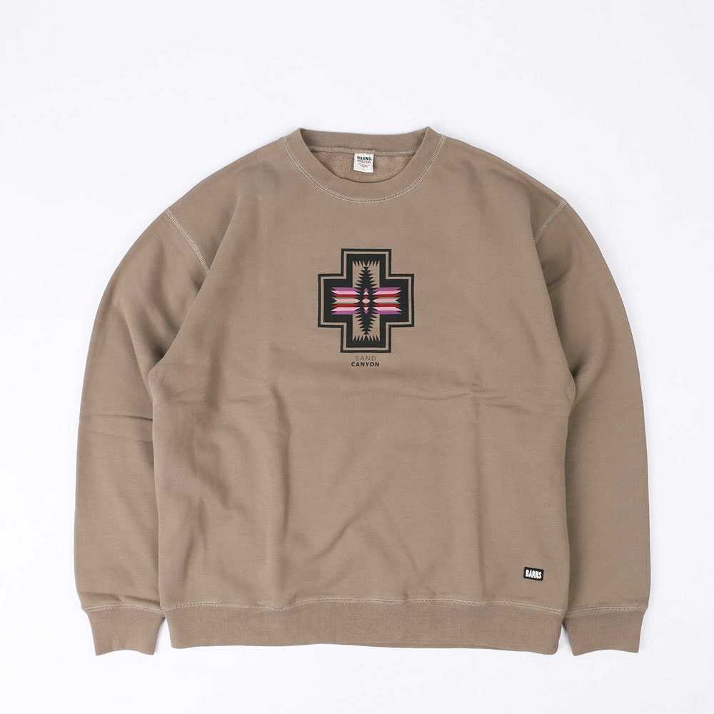 NAVAJO PRINTED WIDE SWEAT SHIRT (Mocha)