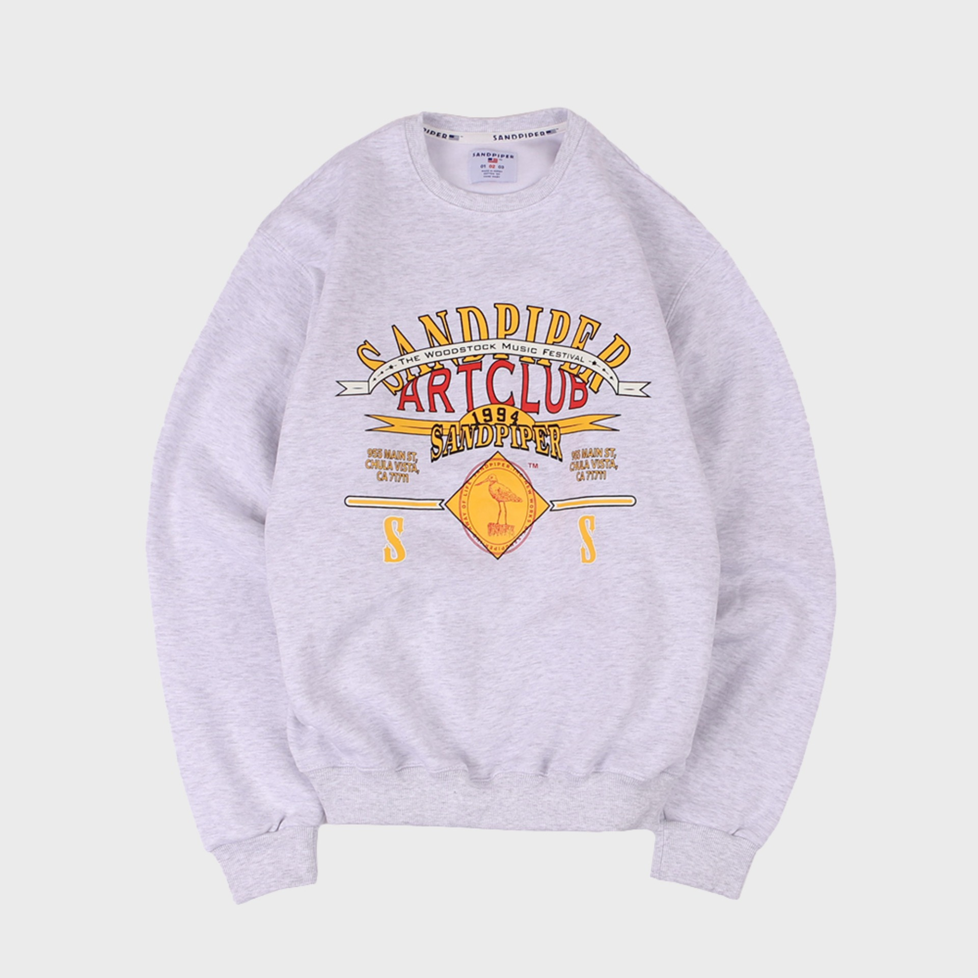 ART CLUB SWEAT SHIRTS (White Melange)