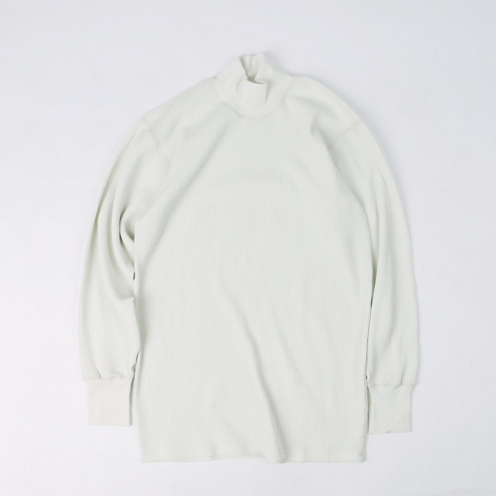 "[Power Wear]Long Sleeve T-Shirt""HIGH NECKED THERMAL""(Ivory)"