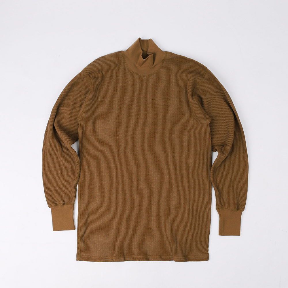 "[Power Wear]Long Sleeve T-Shirt""HIGH NECKED THERMAL""(Coyote)"