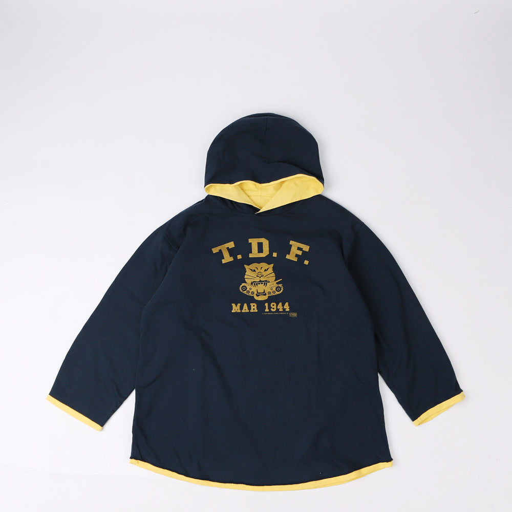 REVISIBLE HOOD PARKA (Navy × Jasmine Yellow)